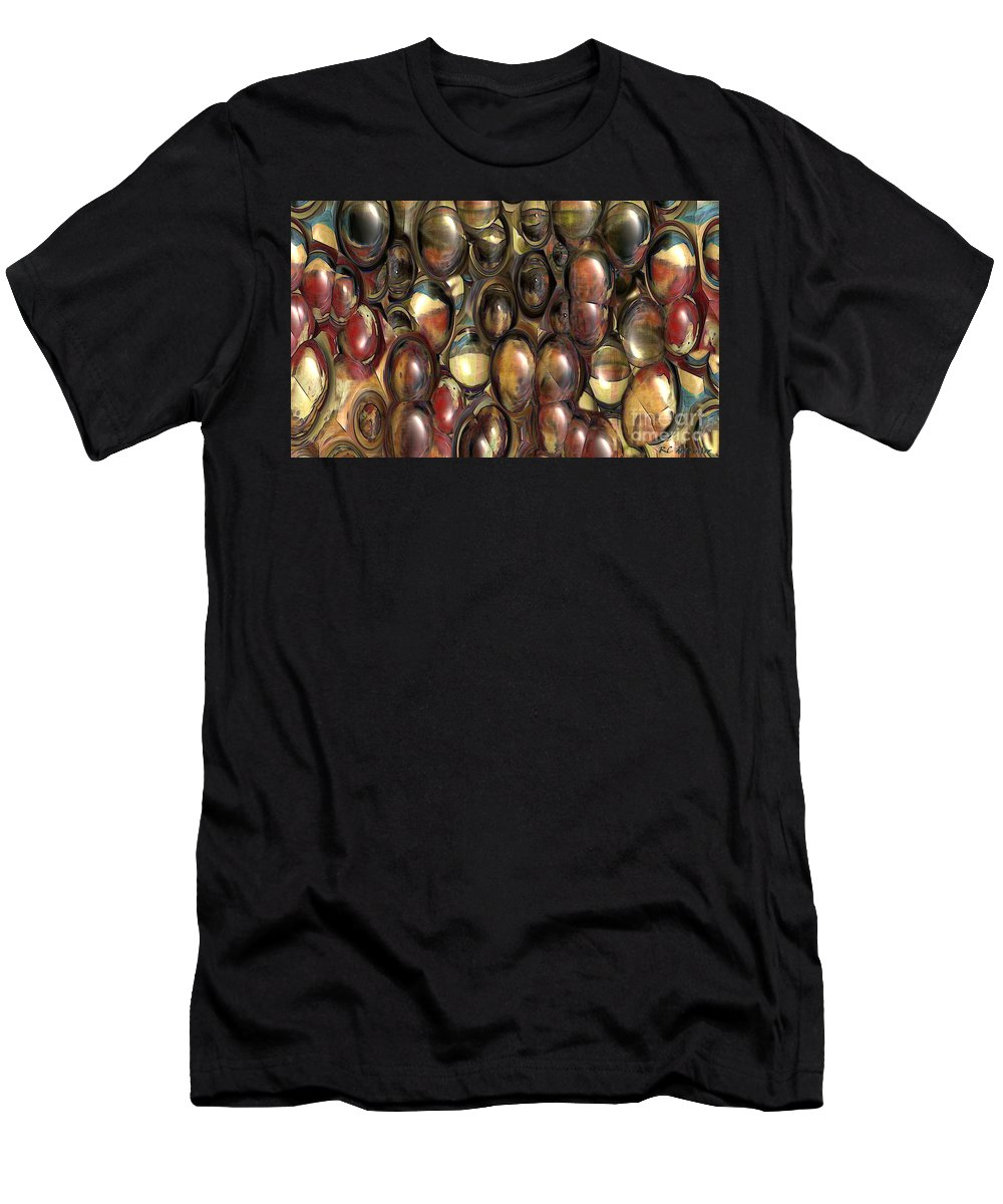 Abstract T-Shirt featuring the painting The Eye Bank by RC DeWinter