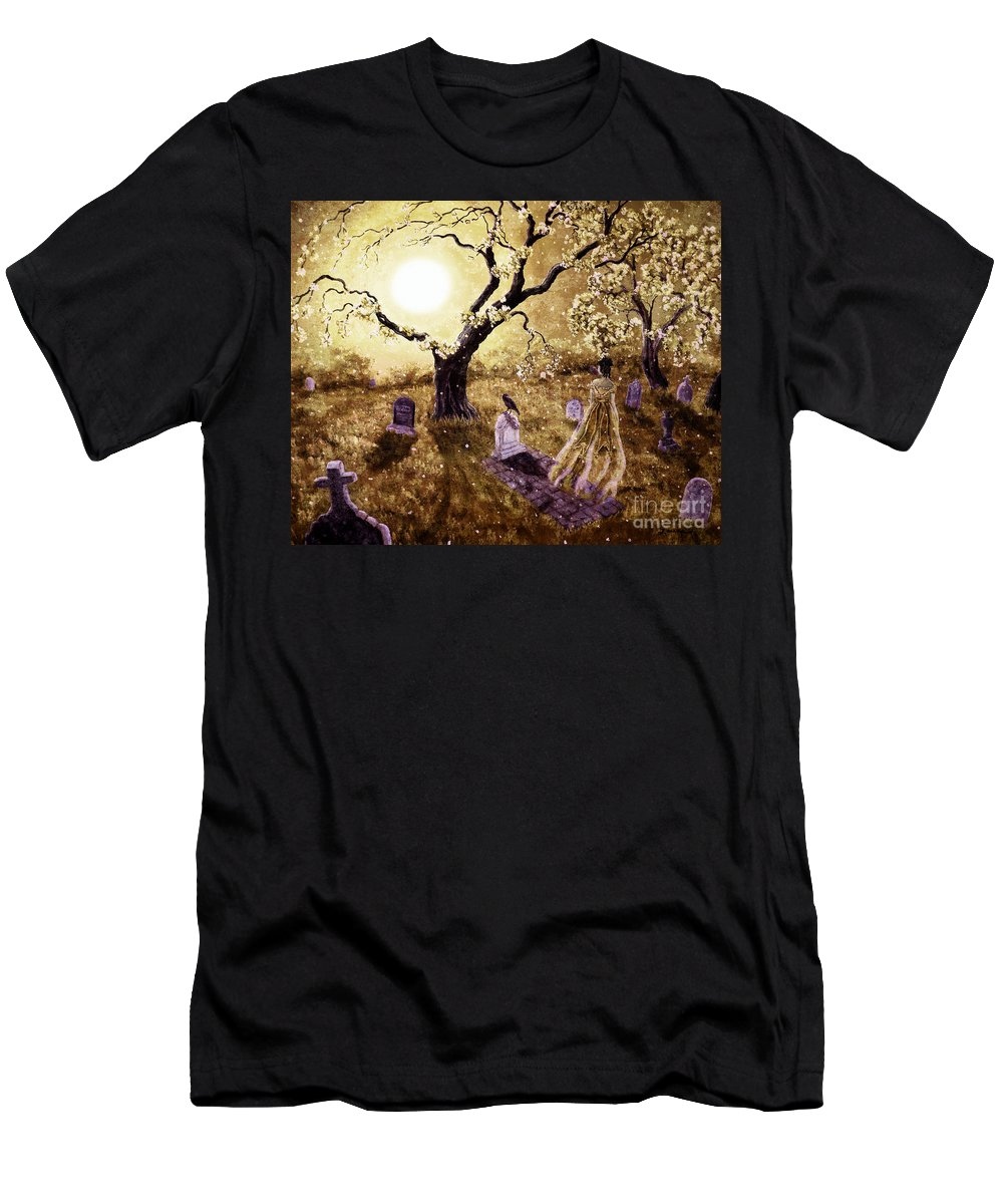 Grunge Men's T-Shirt (Athletic Fit) featuring the digital art The Fading Memory Of Lenore by Laura Iverson