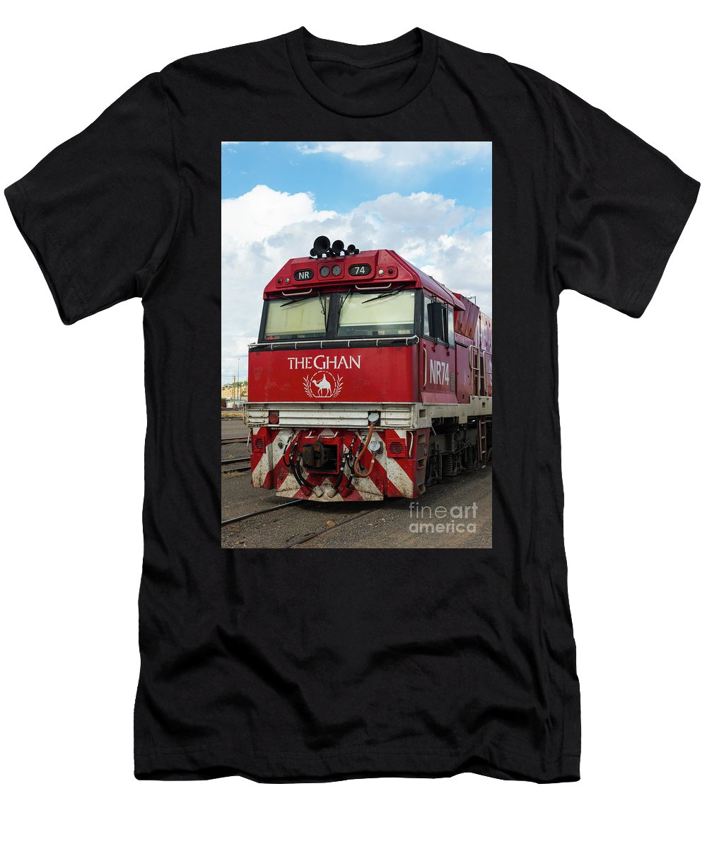 2017 Men's T-Shirt (Athletic Fit) featuring the photograph The Famed Ghan Train by Andrew Michael