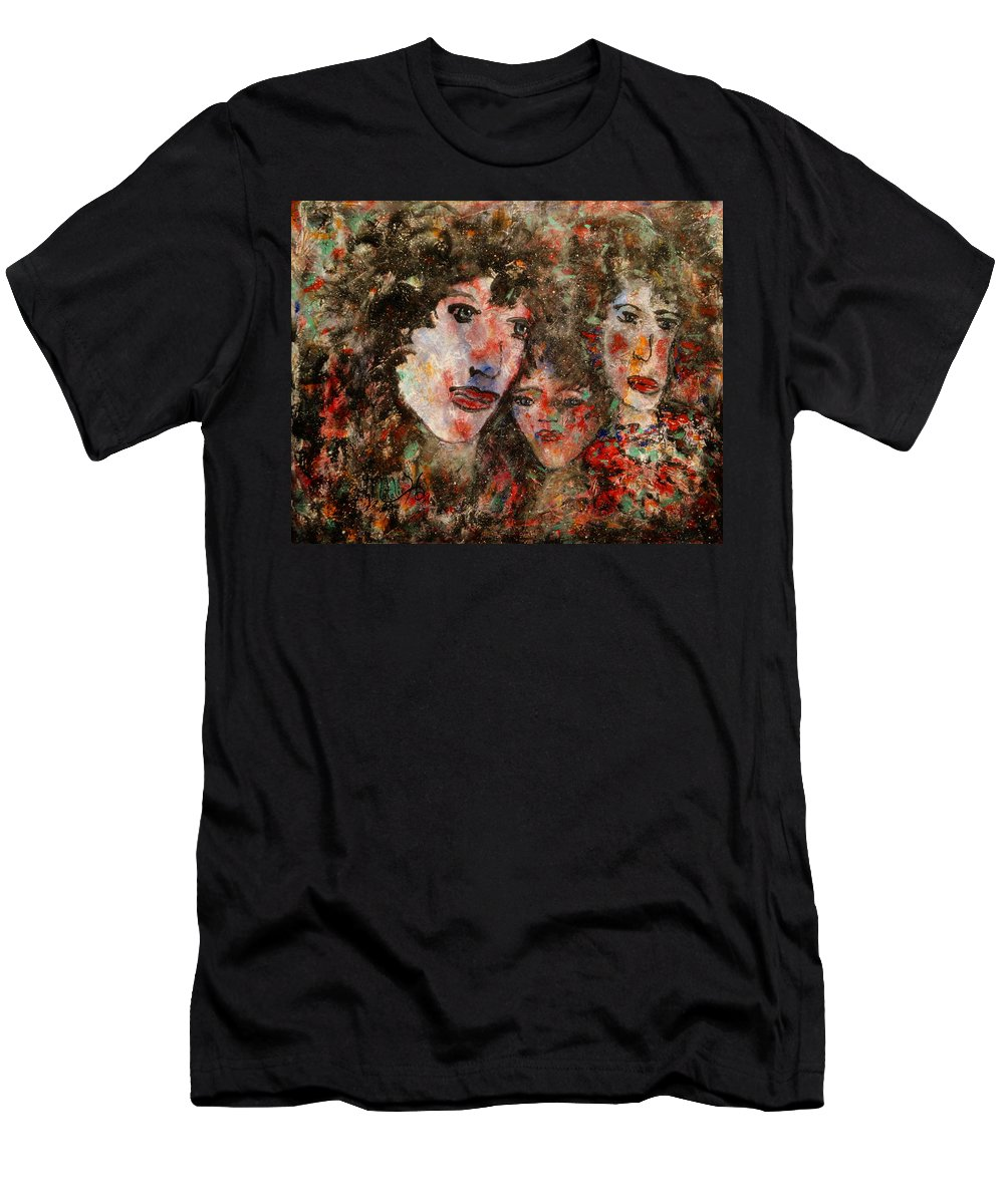 Family Men's T-Shirt (Athletic Fit) featuring the painting The Family That Plays Together Stays Together by Natalie Holland