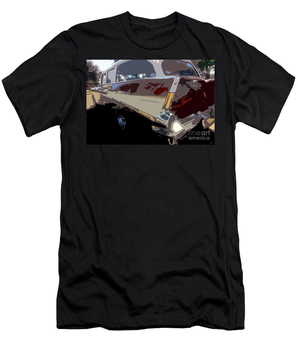 Art Men's T-Shirt (Athletic Fit) featuring the painting The Family Wagon by David Lee Thompson