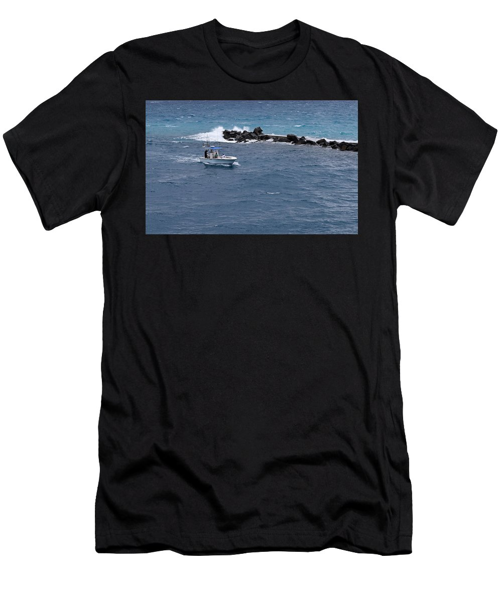 Fishing Boat Men's T-Shirt (Athletic Fit) featuring the photograph The Fishing Boat by Maria Keady
