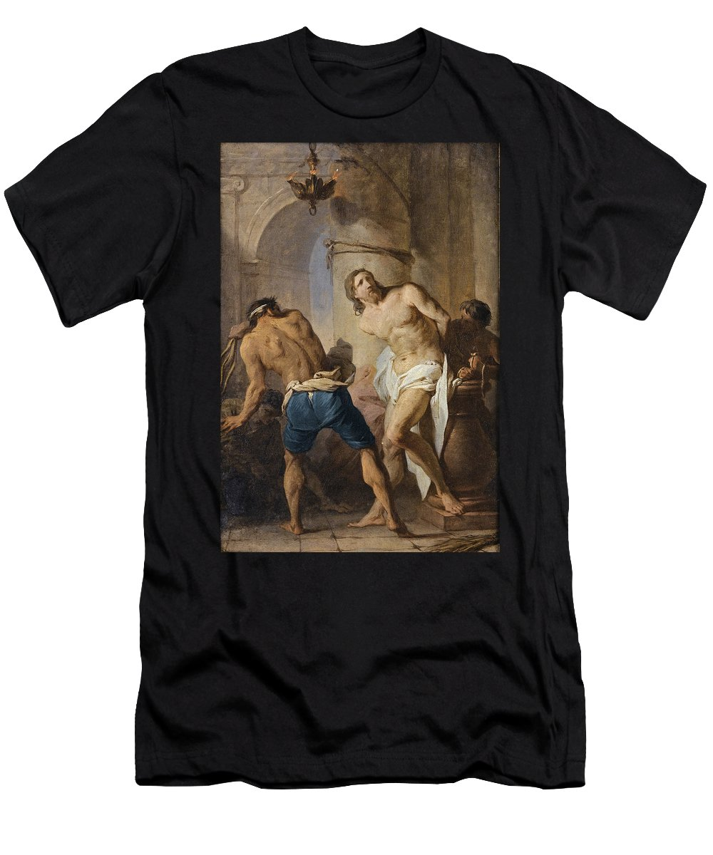 Pierre Subleyras Men's T-Shirt (Athletic Fit) featuring the painting The Flagellation Of Christ by Pierre Subleyras