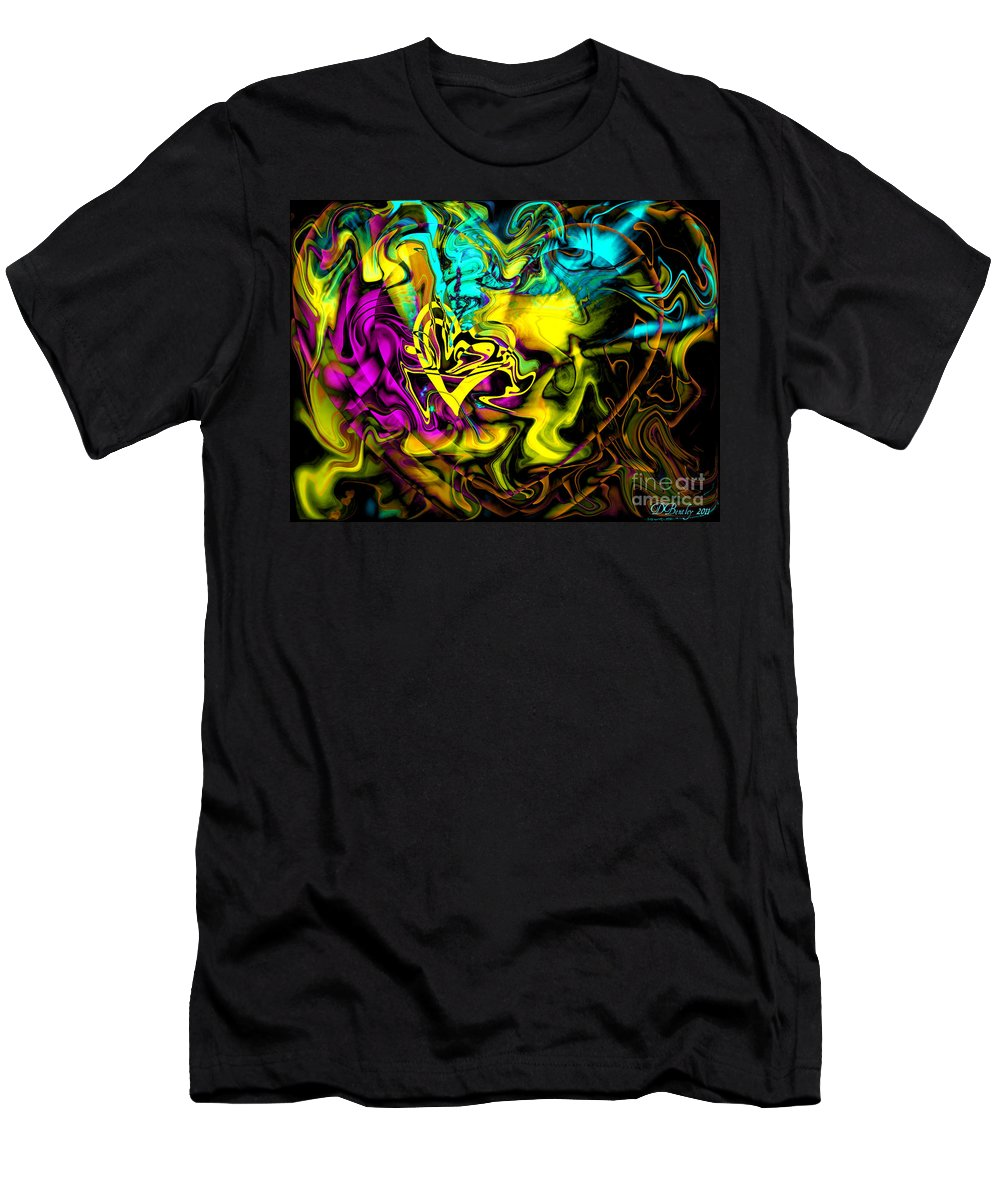 Heart Men's T-Shirt (Athletic Fit) featuring the digital art The Flame In My Heart by Donna Bentley