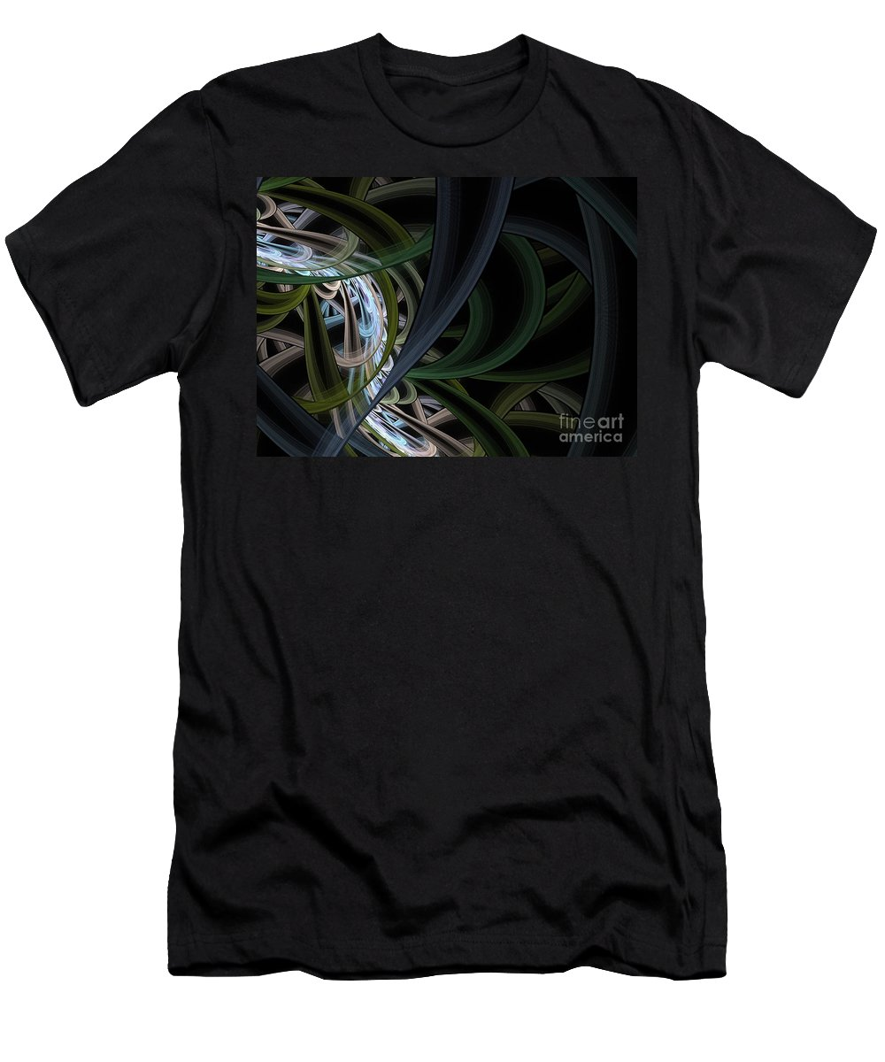 Flood Men's T-Shirt (Athletic Fit) featuring the painting The Flood by Steve K