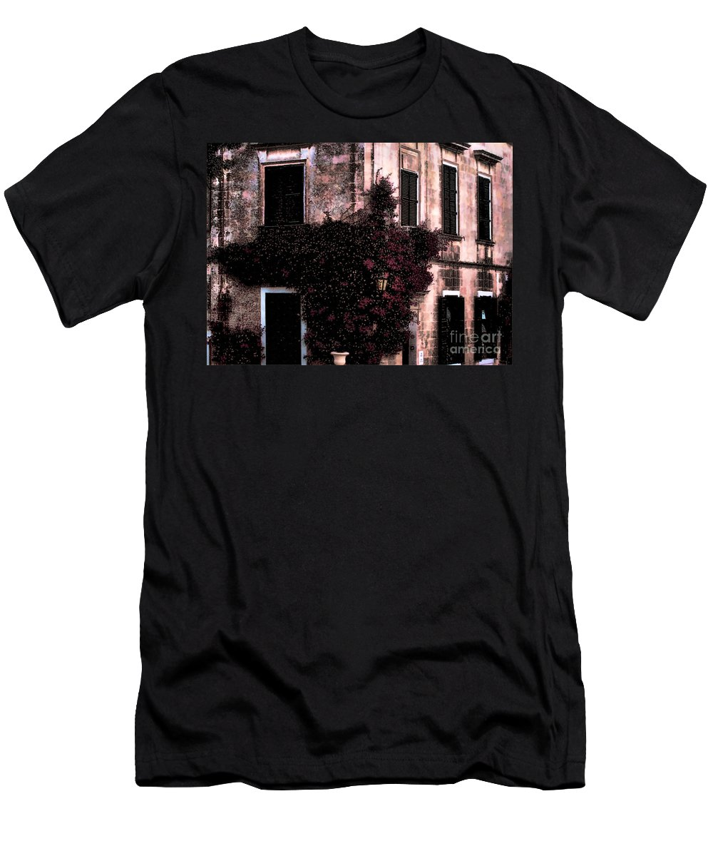 Landscape Photograph Men's T-Shirt (Athletic Fit) featuring the photograph The Flower Shop Malta by Tom Prendergast