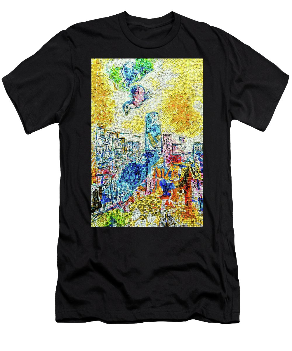 Chicago Men's T-Shirt (Athletic Fit) featuring the photograph The Four Seasons Chicago Portrait by Kyle Hanson