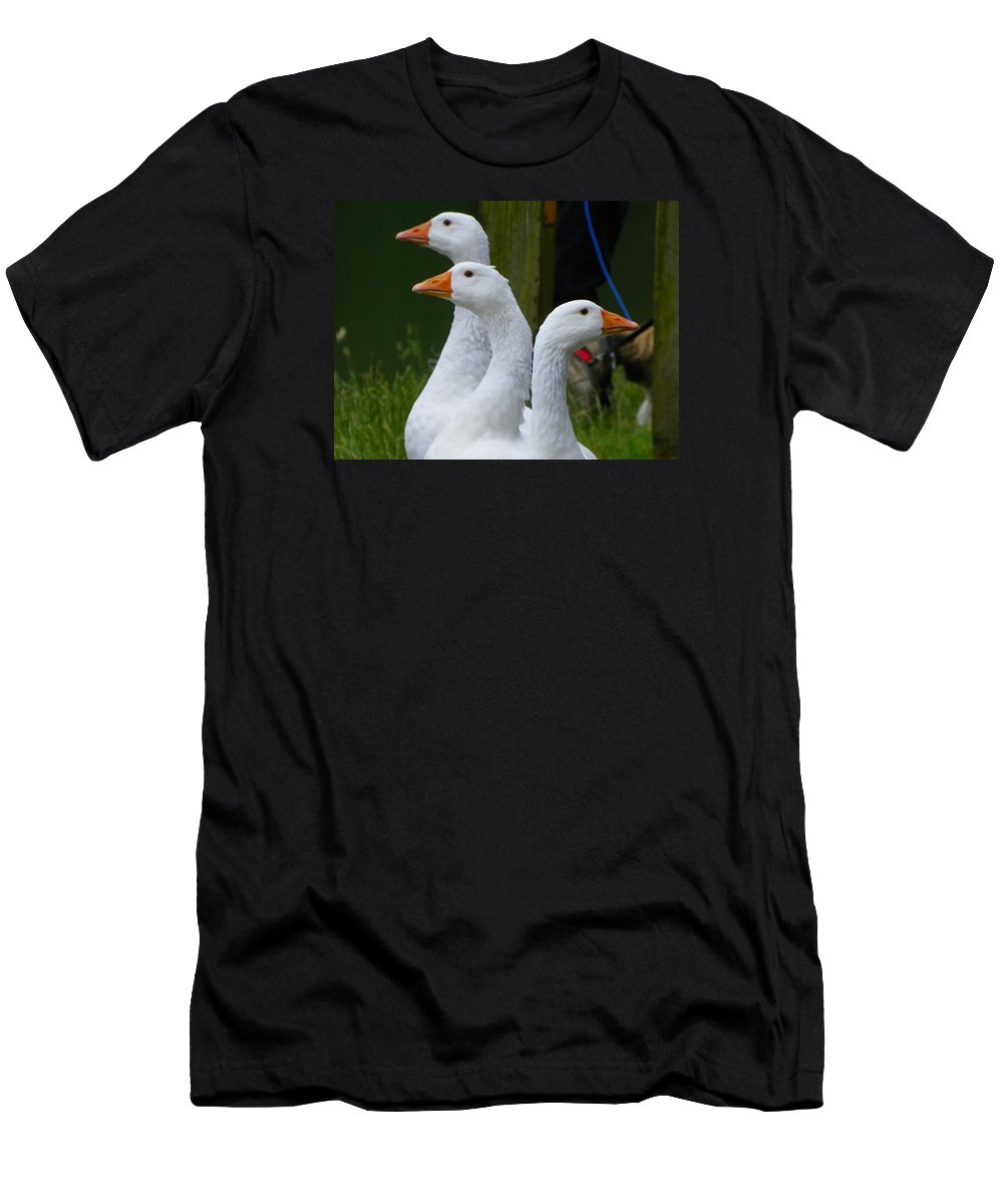 Digital Photography Men's T-Shirt (Athletic Fit) featuring the photograph The Fowl Of Borst Park Wa by Laurie Kidd