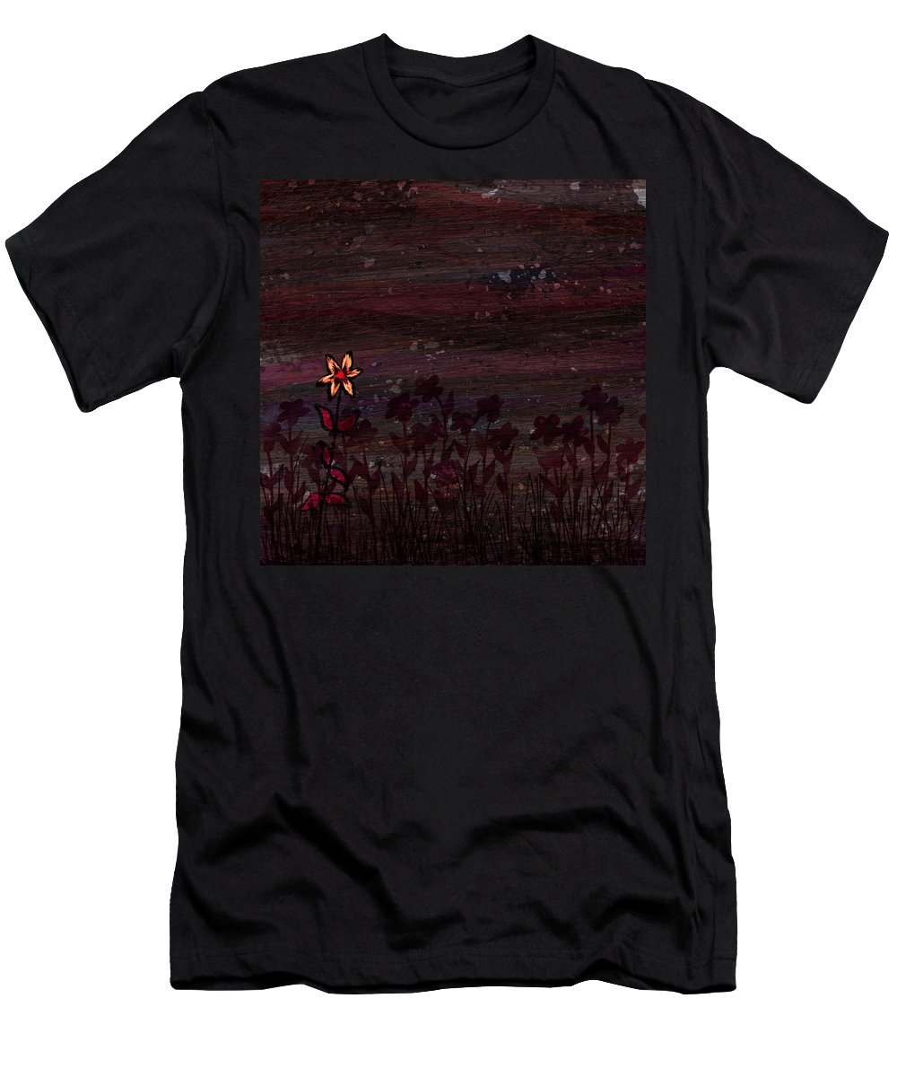 Abstract Men's T-Shirt (Athletic Fit) featuring the digital art The Freak by Rachel Christine Nowicki