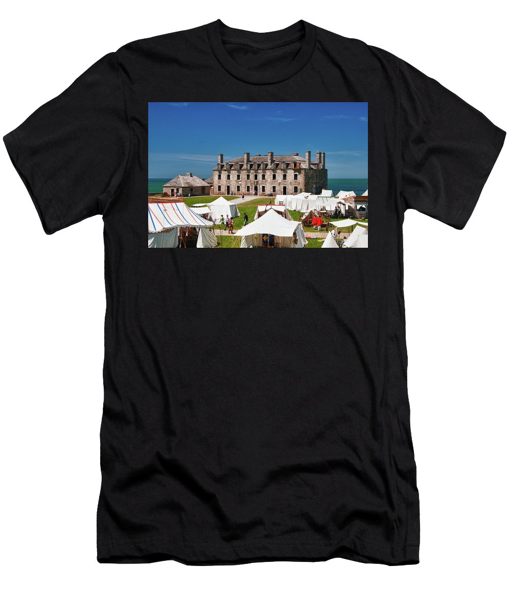 French Castle Men's T-Shirt (Athletic Fit) featuring the photograph The French Castle 6709 by Guy Whiteley