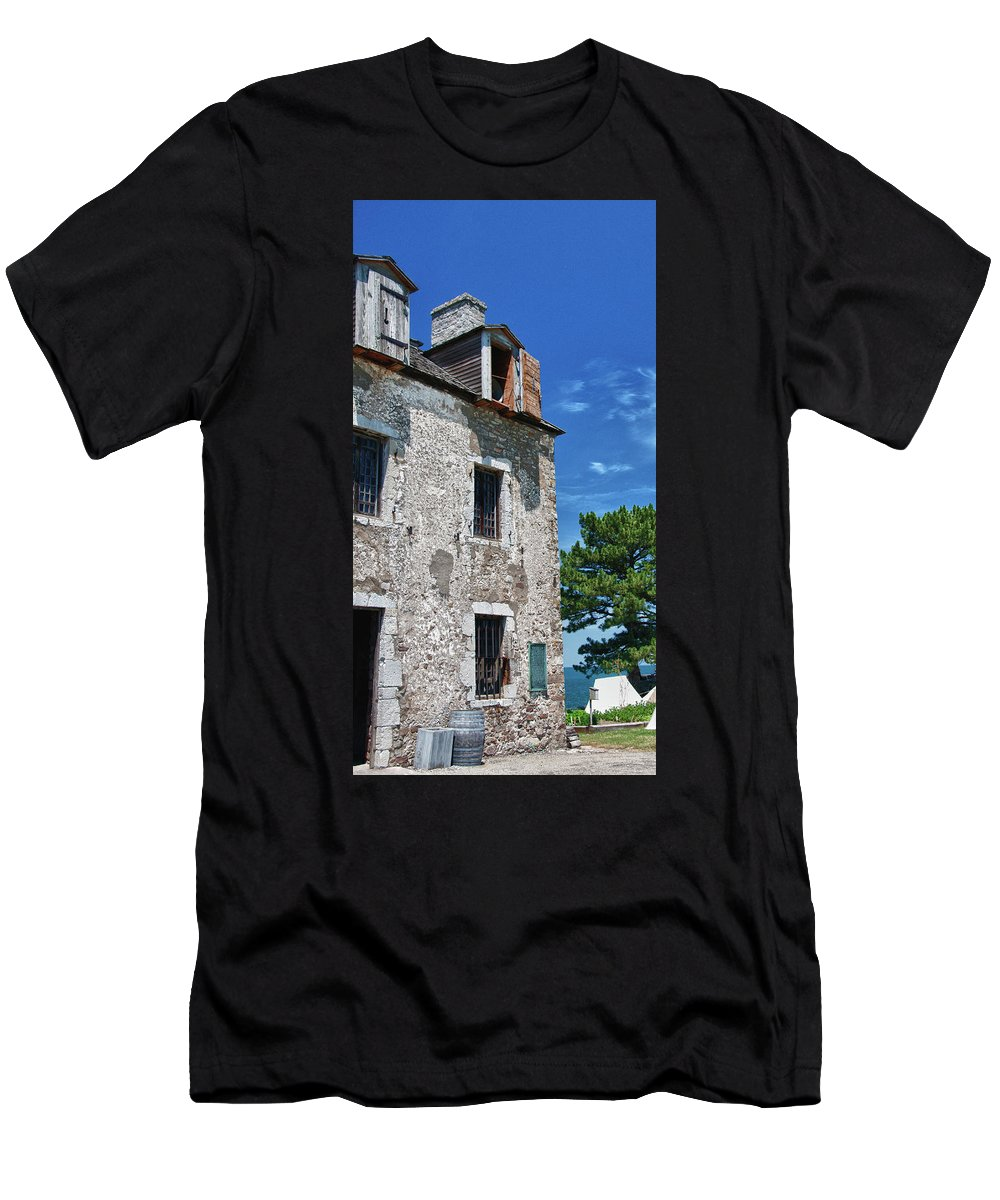 French Castle Men's T-Shirt (Athletic Fit) featuring the photograph The French Castle 6947 by Guy Whiteley