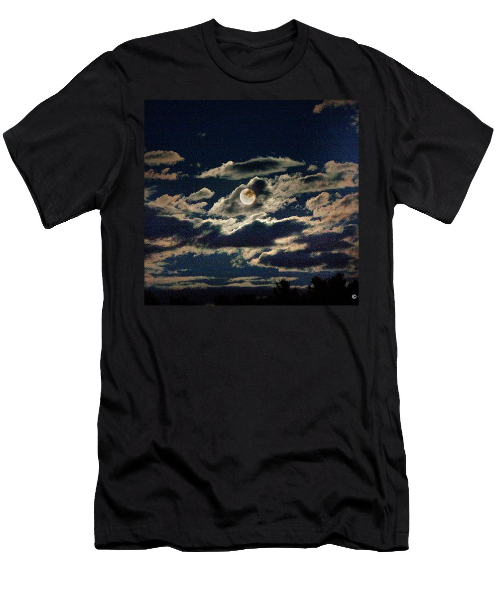Full Moon Men's T-Shirt (Athletic Fit) featuring the photograph The Full Buck Moon by Yuri Lev