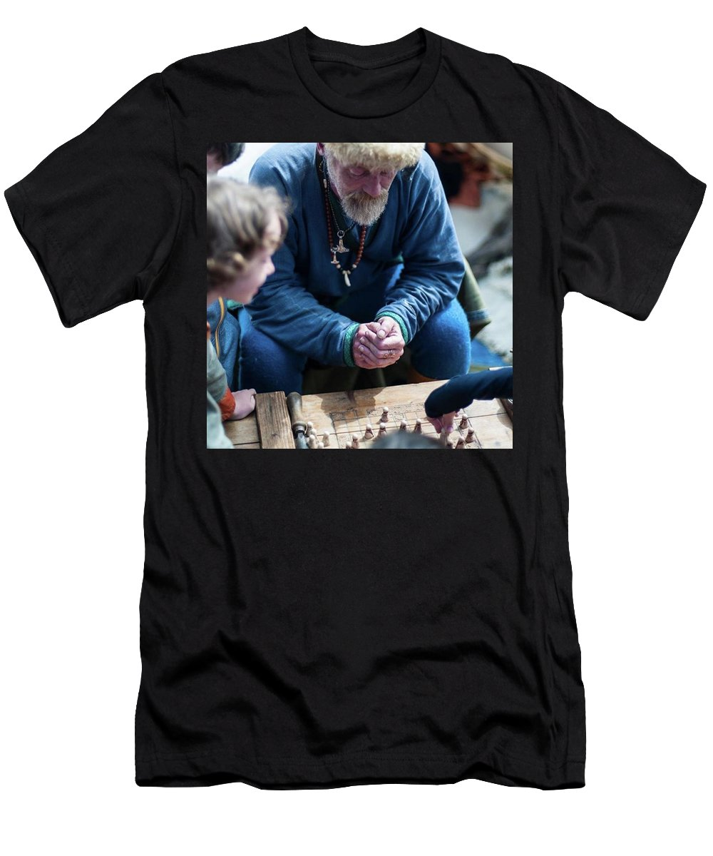 Play Men's T-Shirt (Athletic Fit) featuring the photograph The Game by Aleck Cartwright