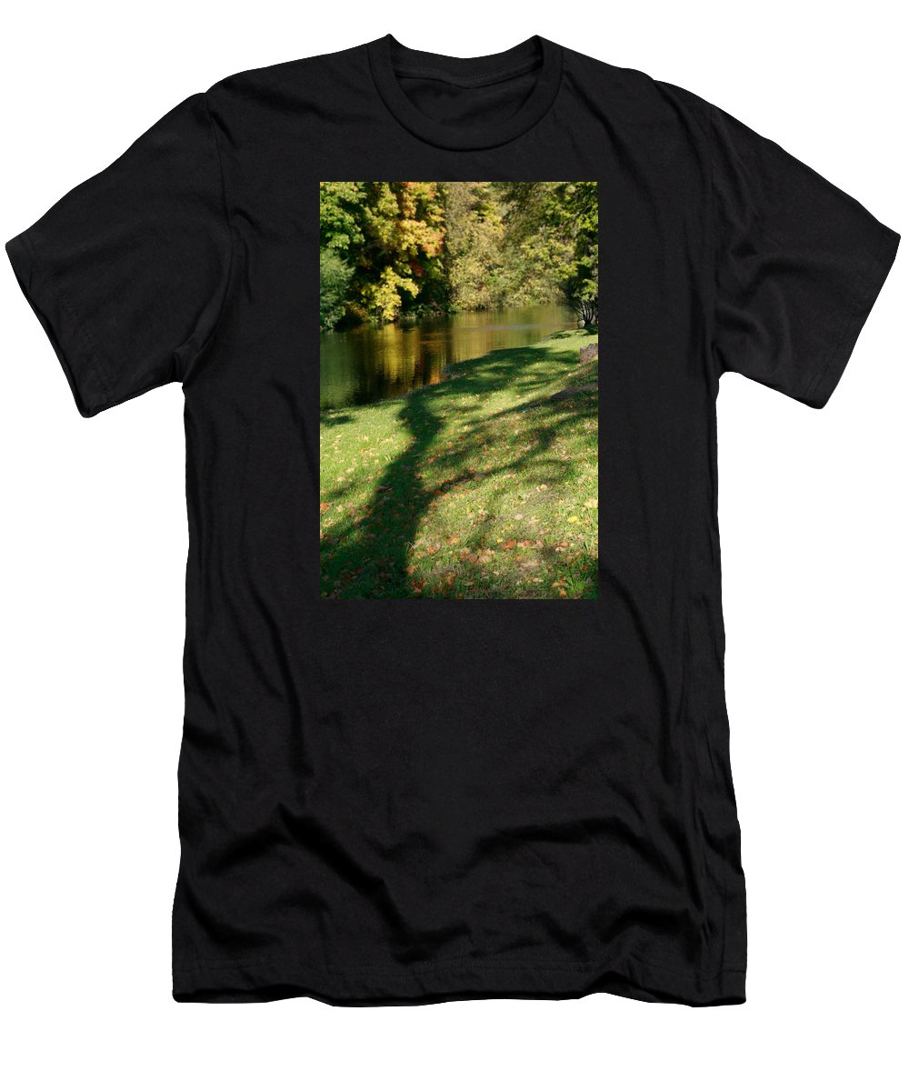 Fall Men's T-Shirt (Athletic Fit) featuring the photograph The Game Of Shadows by Masha Batkova