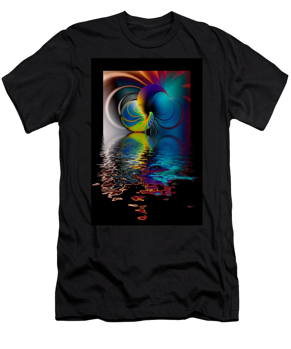 Hakon Men's T-Shirt (Athletic Fit) featuring the photograph The Gate Across The Water by Hakon Soreide