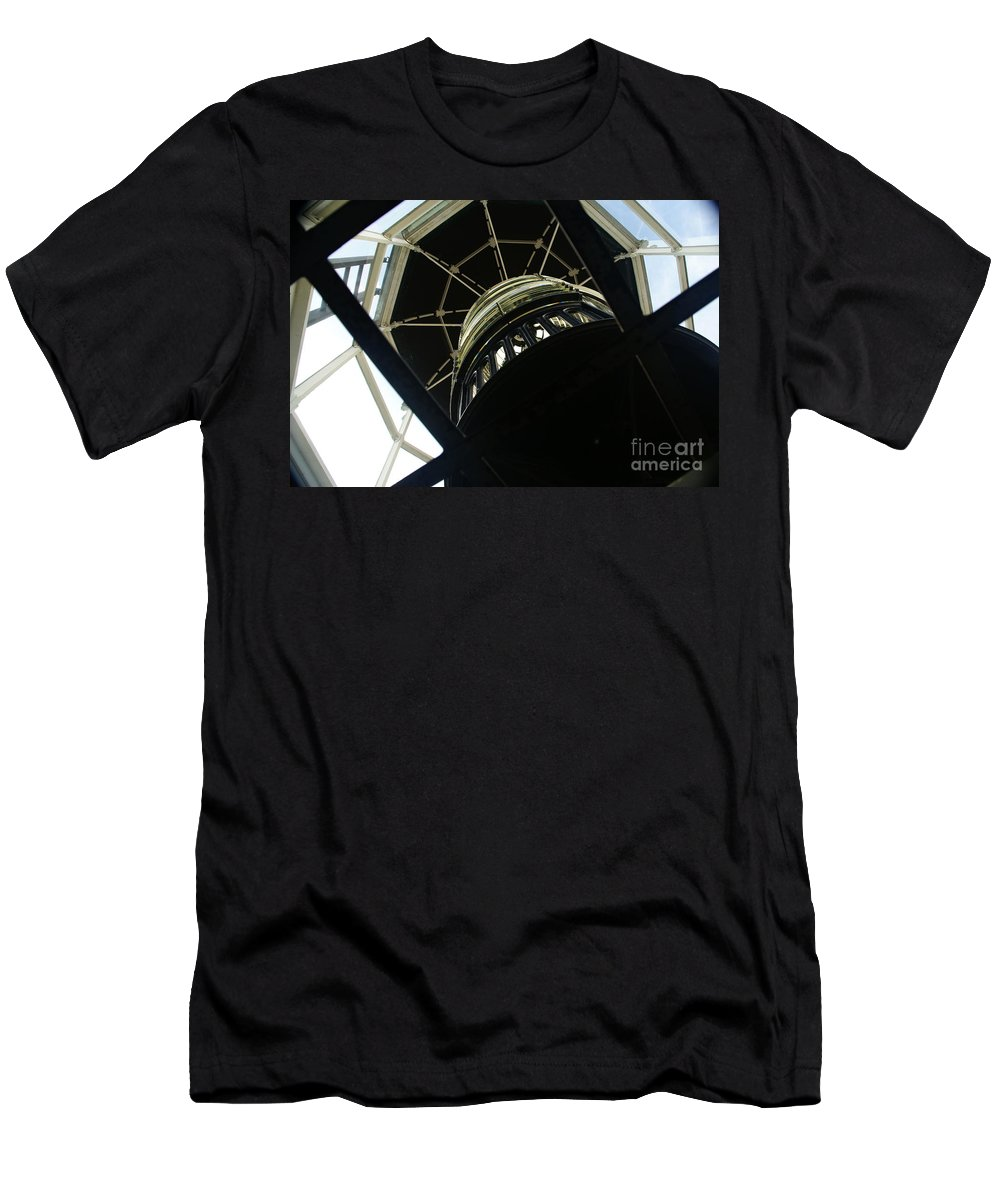 Lighthouse Men's T-Shirt (Athletic Fit) featuring the photograph The Ghost Within by Linda Shafer