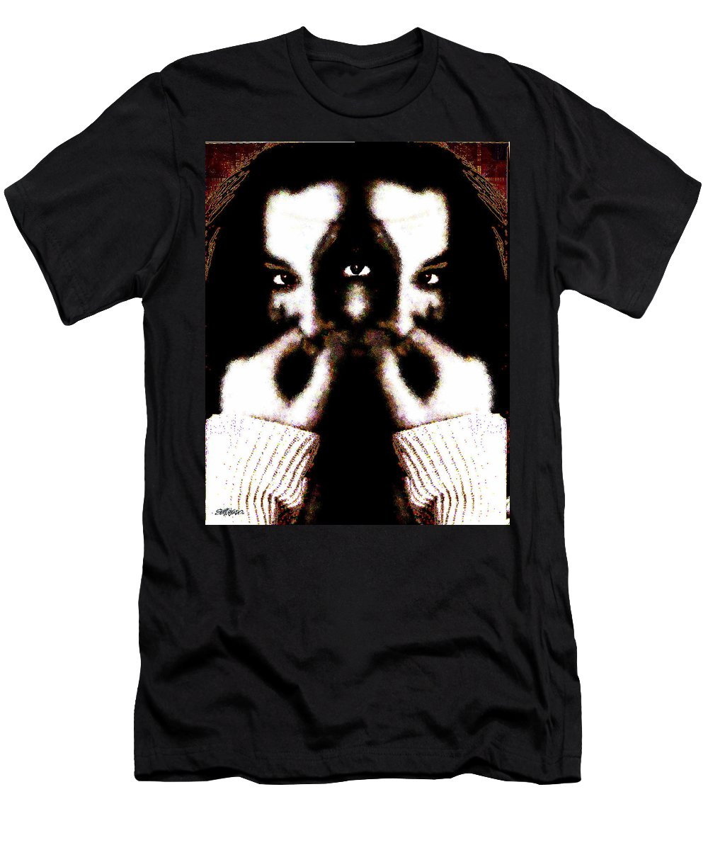 The Giggler Men's T-Shirt (Athletic Fit) featuring the digital art The Giggler by Seth Weaver