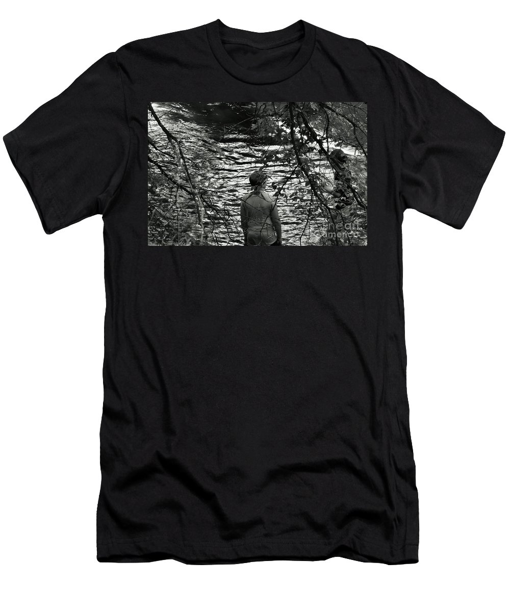 Girl Men's T-Shirt (Athletic Fit) featuring the photograph The Girl Of His Dreams by Curtis Tilleraas