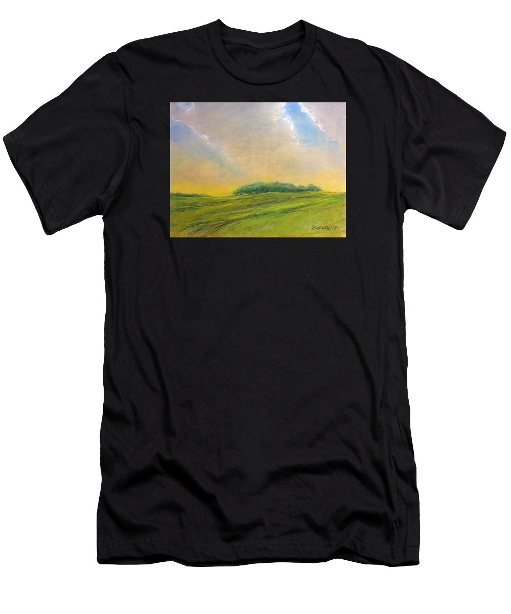 Ohio Men's T-Shirt (Athletic Fit) featuring the painting The Glow by Robert Sankner