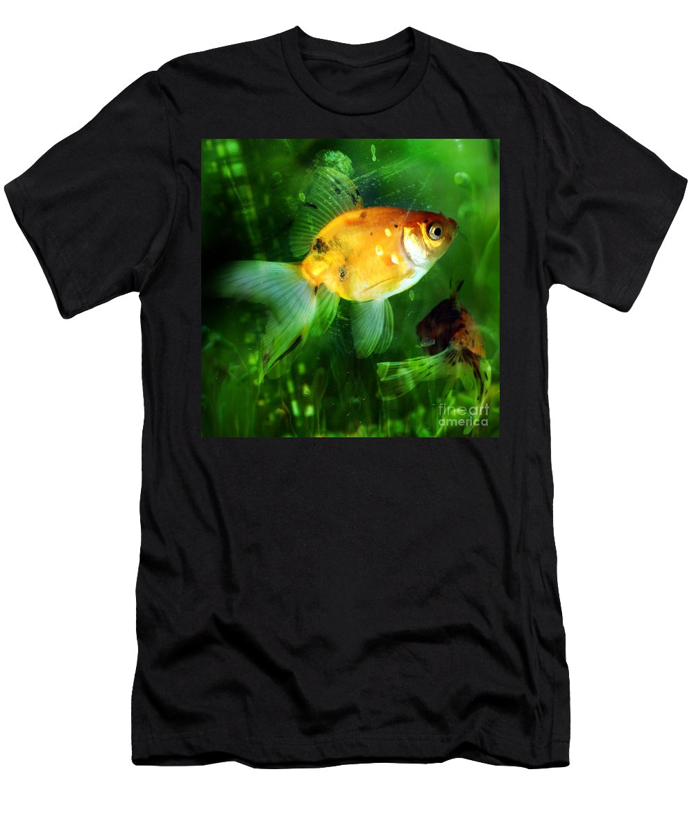 Fish Men's T-Shirt (Athletic Fit) featuring the photograph The Goldfish by Angel Tarantella