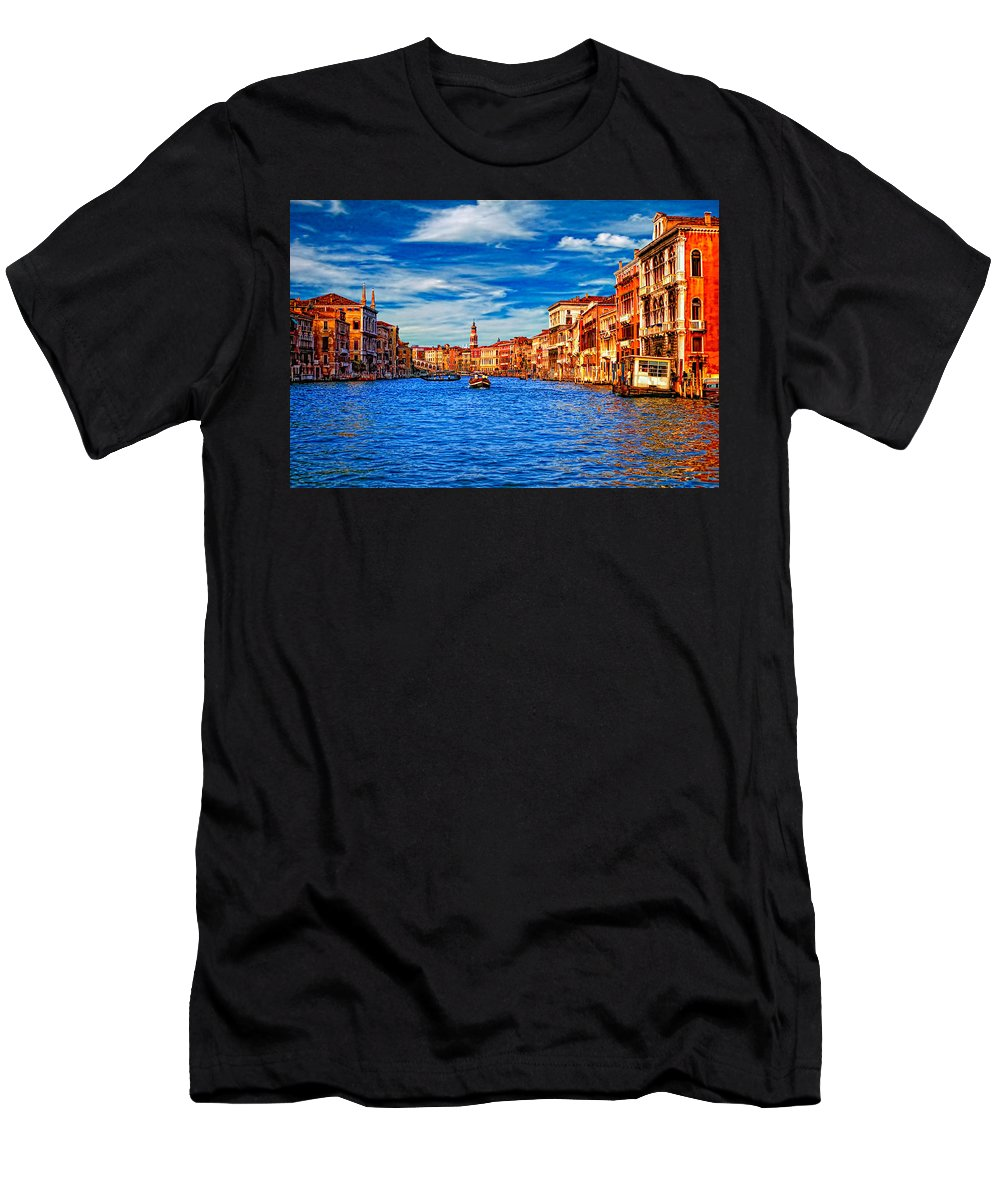 Venice Men's T-Shirt (Athletic Fit) featuring the photograph The Grand Canal by Steve Harrington