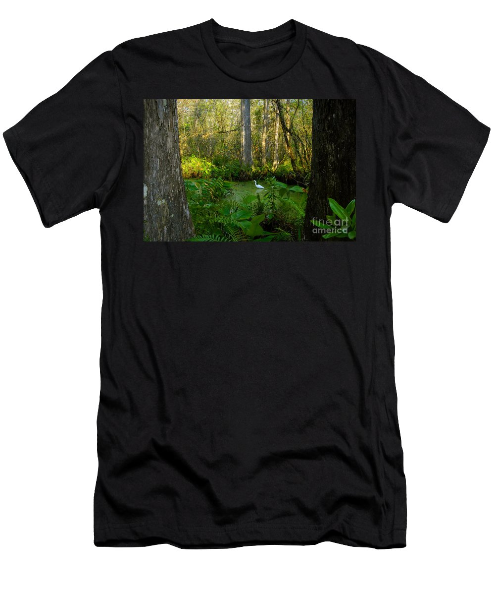 Corkscrew Swamp Men's T-Shirt (Athletic Fit) featuring the photograph The Great Corkscrew Swamp by David Lee Thompson