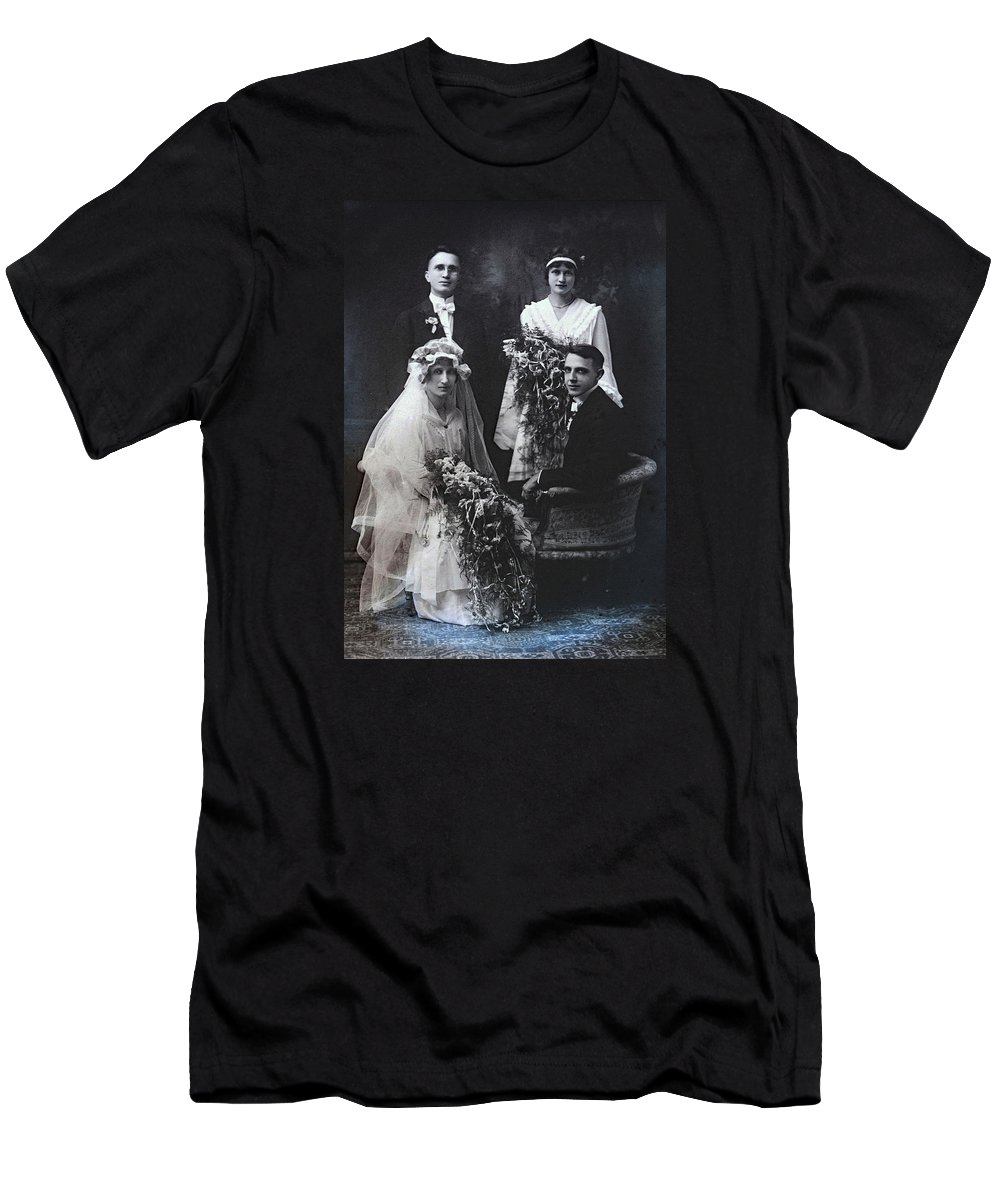 Victorian Men's T-Shirt (Athletic Fit) featuring the photograph The Groom Pines For The Bridesmaid by Rachel Knight