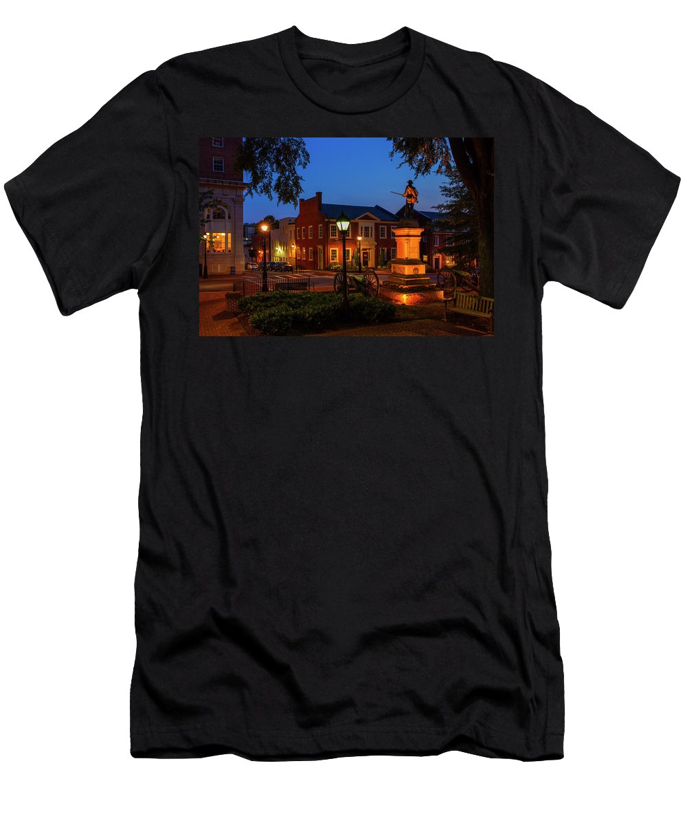 Charlottesville Men's T-Shirt (Athletic Fit) featuring the photograph The Guard by Cliff Middlebrook