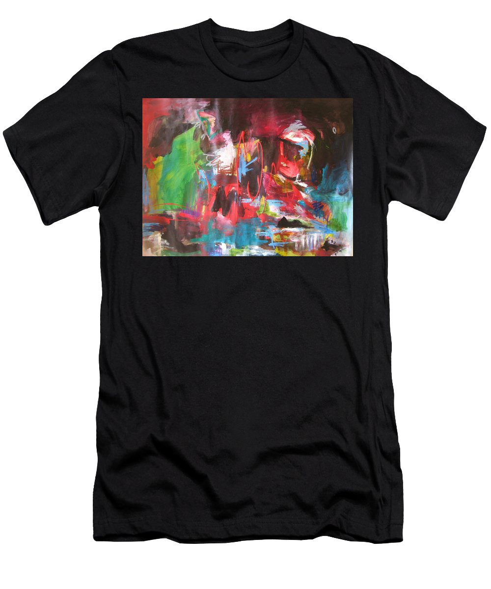 Abstract Men's T-Shirt (Athletic Fit) featuring the painting The Ha Ha by Seon-Jeong Kim