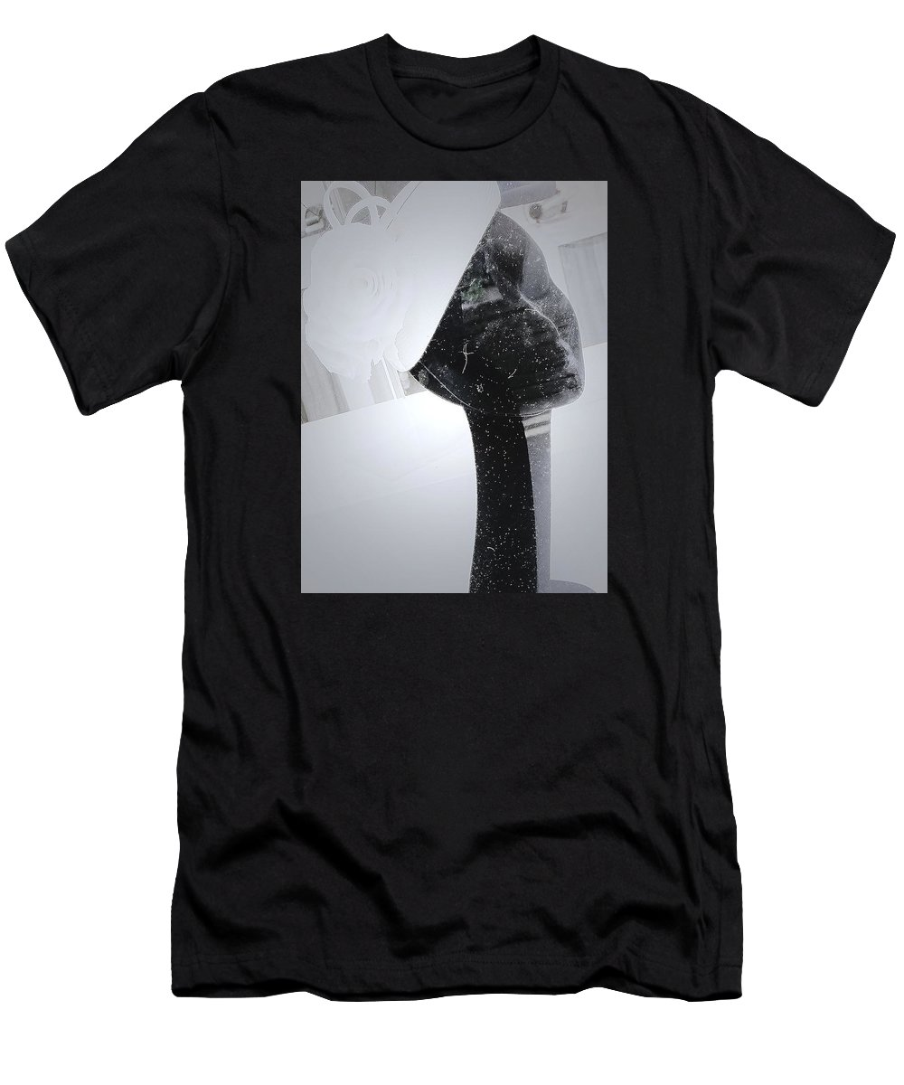 Abstract Men's T-Shirt (Athletic Fit) featuring the photograph The Hat by Karen Christine Boissonneault