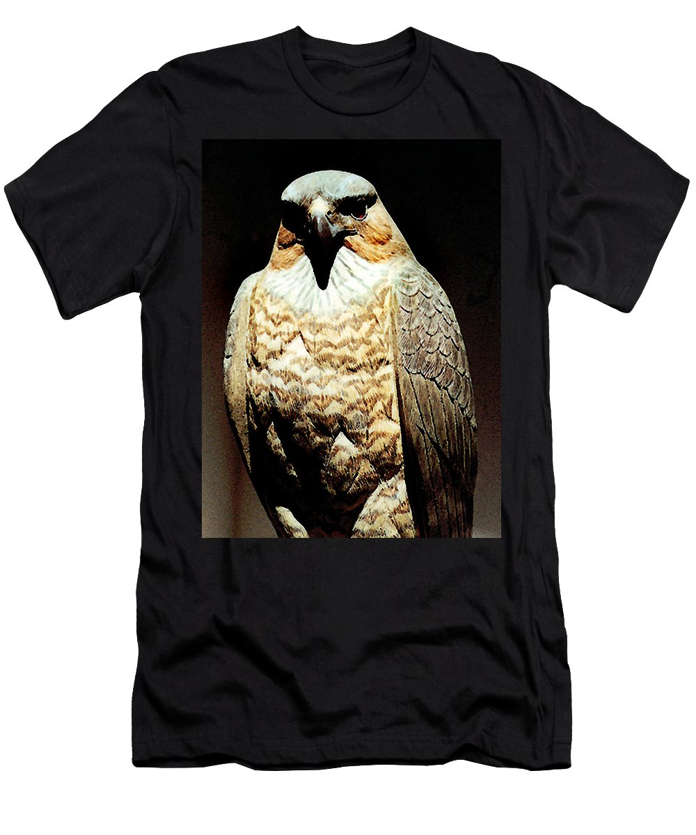 Birds Men's T-Shirt (Athletic Fit) featuring the painting The Hawk by Paul Sachtleben
