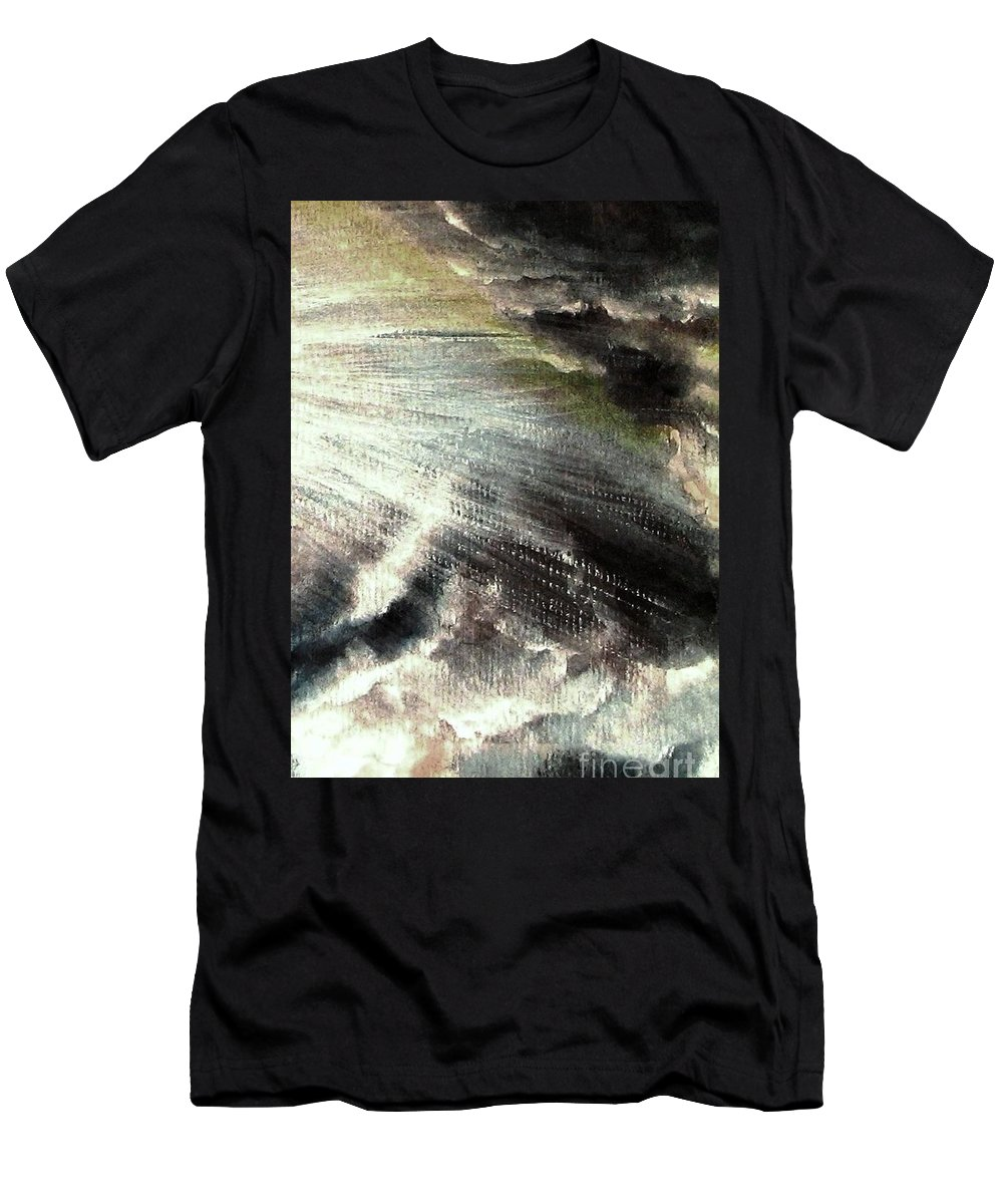 Sunrise Men's T-Shirt (Athletic Fit) featuring the painting The Heavens Declare His Glory by Hazel Holland