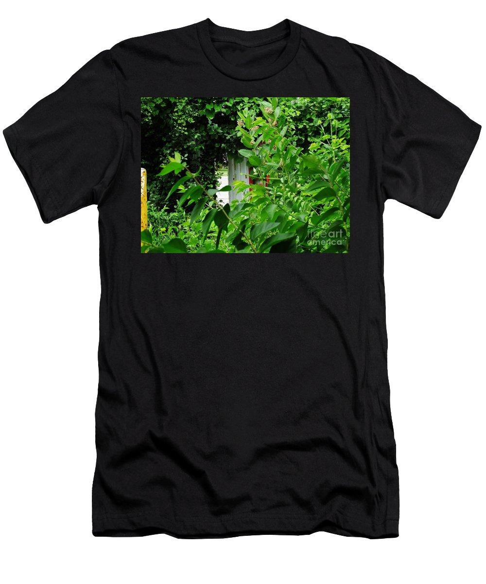 Door Men's T-Shirt (Athletic Fit) featuring the photograph The Hidden Door by Don Baker
