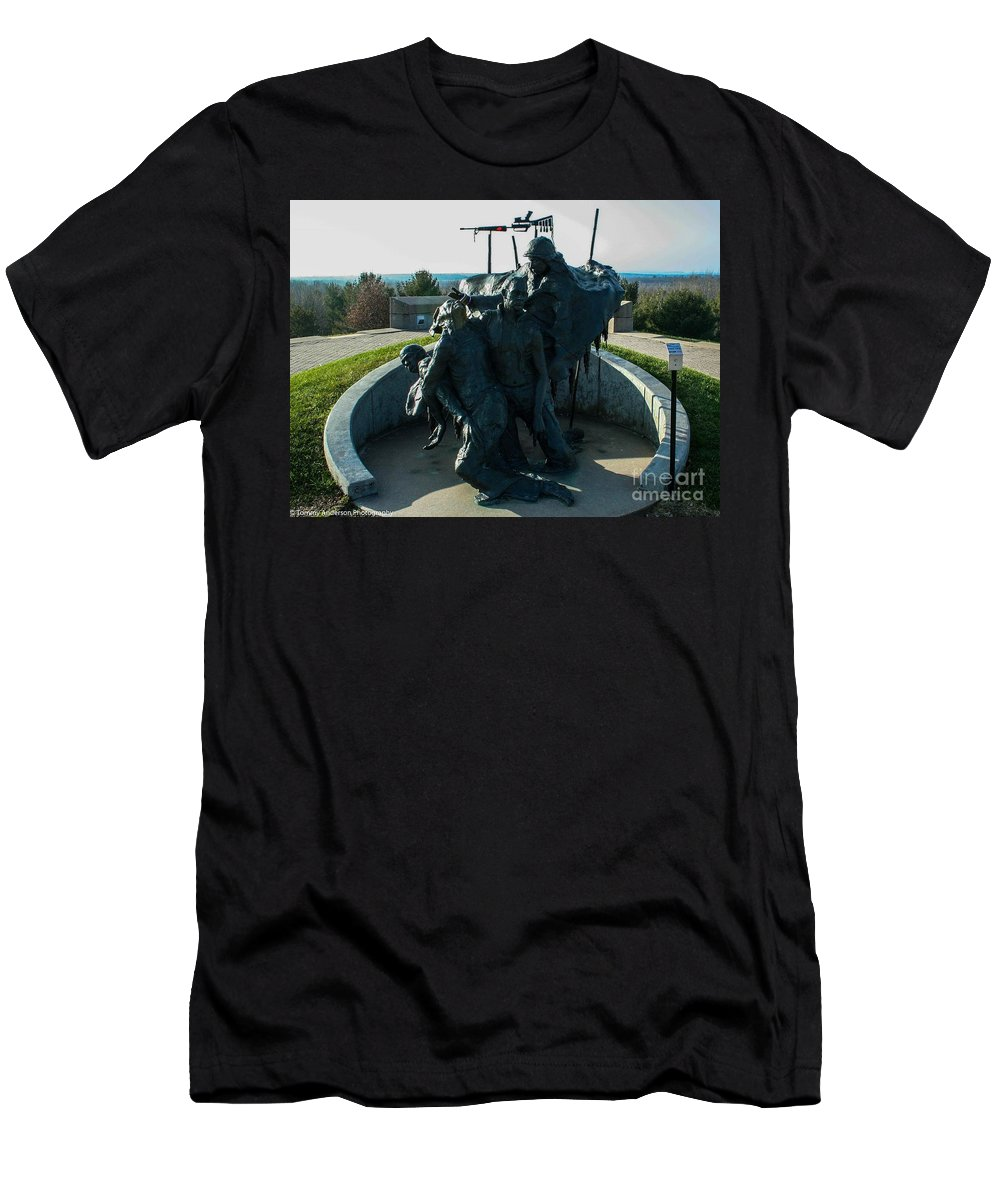 Native American Men's T-Shirt (Athletic Fit) featuring the photograph The Highground by Tommy Anderson