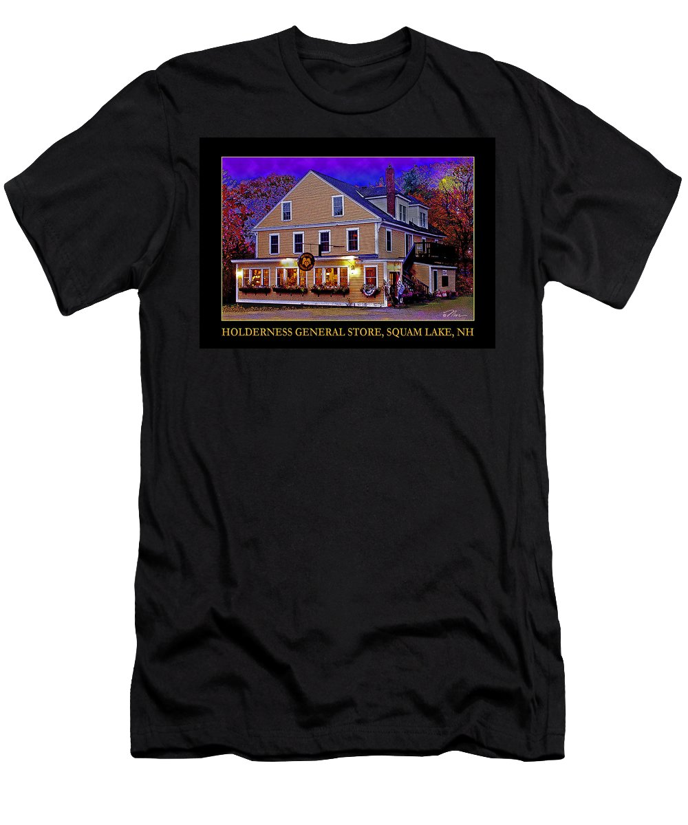 Squam Lake Men's T-Shirt (Athletic Fit) featuring the photograph The Holderness General Store by Nancy Griswold
