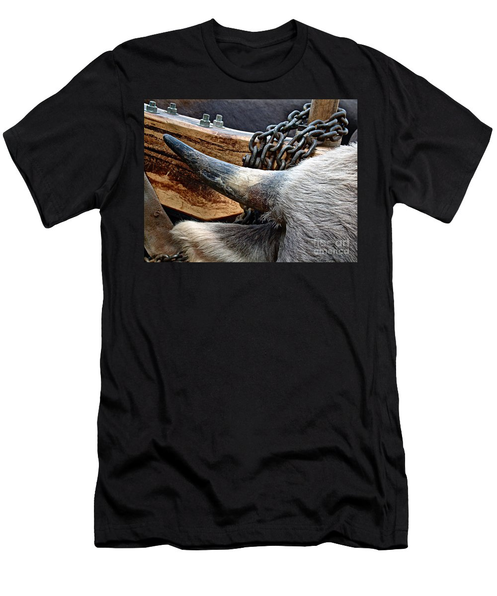 Animal Men's T-Shirt (Athletic Fit) featuring the photograph The Horn Of The Beast by RC DeWinter