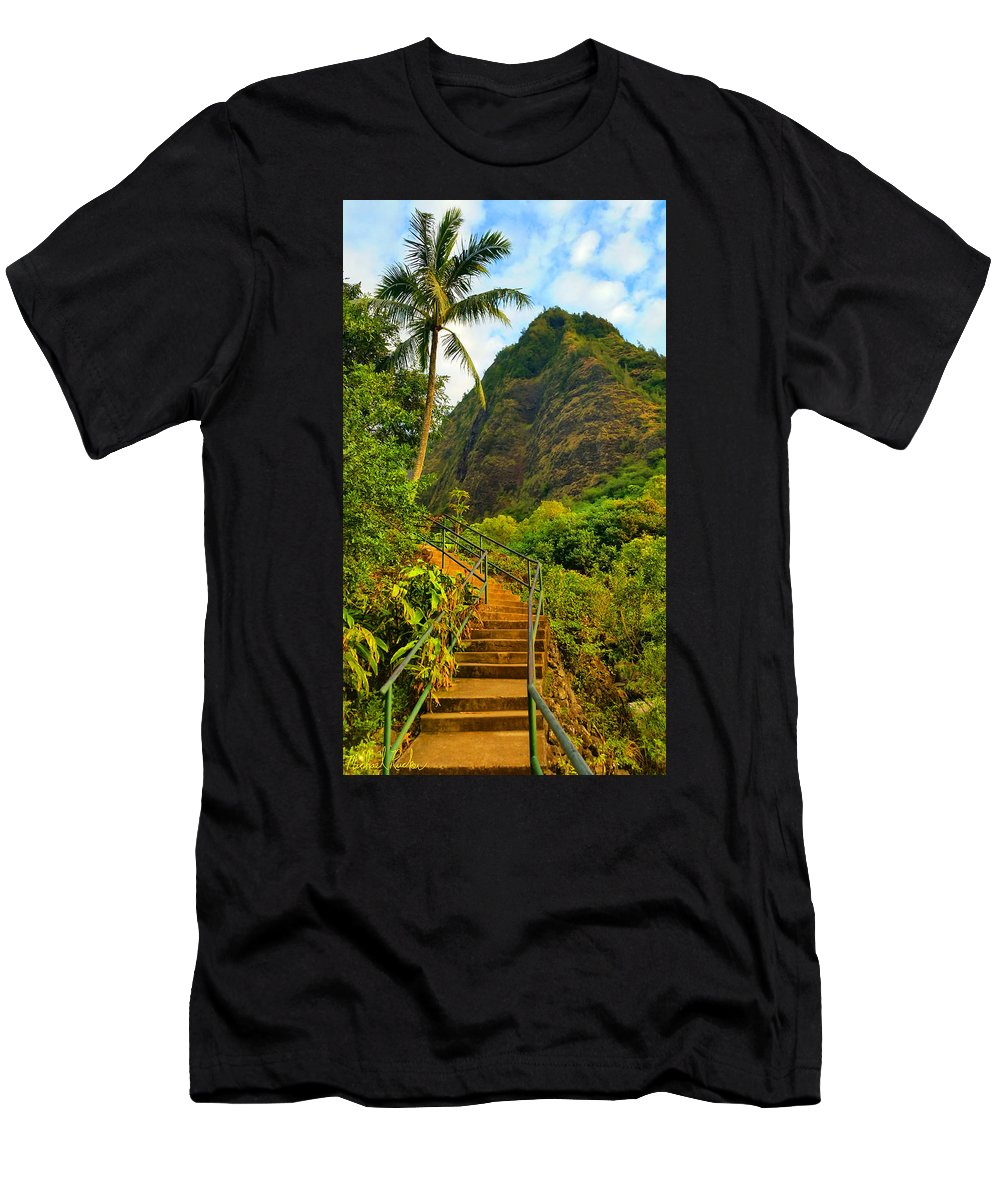 Iao Valley State Park Men's T-Shirt (Athletic Fit) featuring the photograph The Iao Needle - Maui by Michael Rucker
