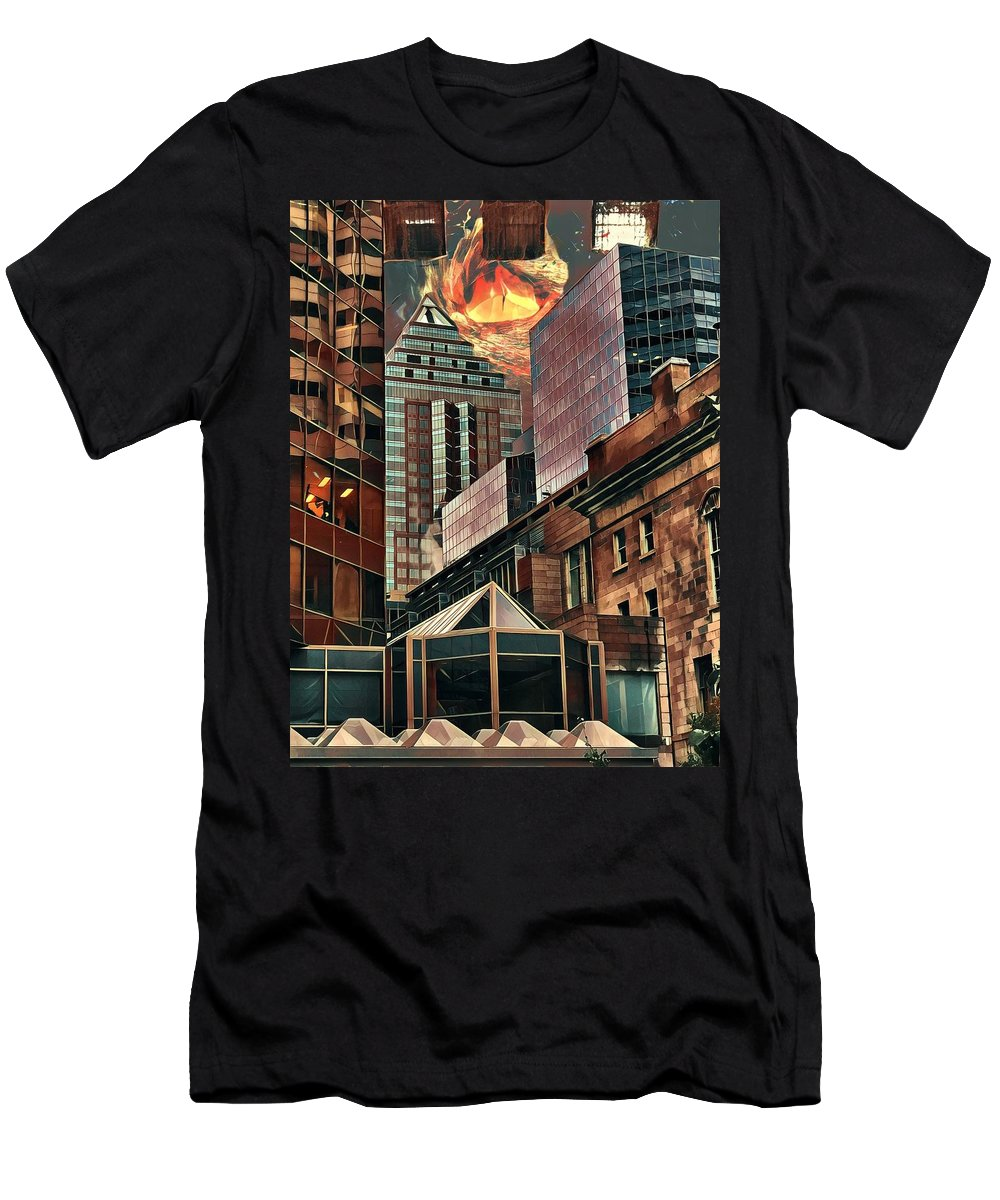 City Men's T-Shirt (Athletic Fit) featuring the digital art The Invisible Eye by Aiden Nettavong