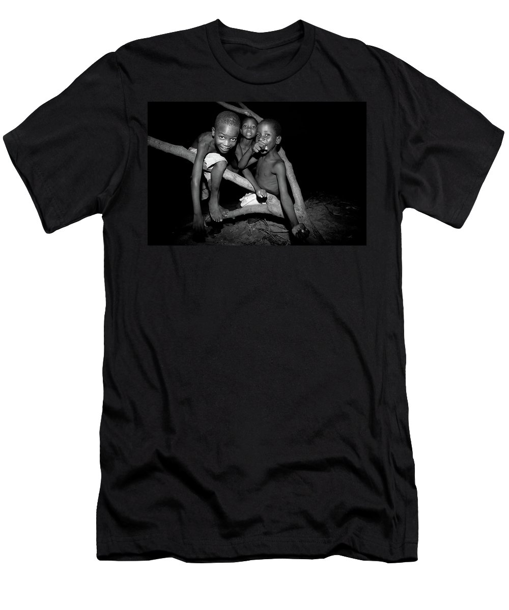 Children Men's T-Shirt (Athletic Fit) featuring the photograph The Joy Of Youth by Bruce J Robinson