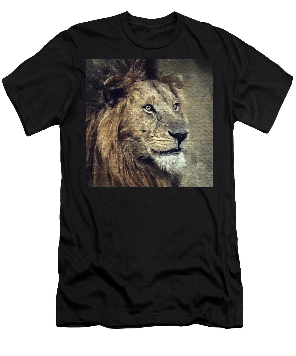 The King Men's T-Shirt (Athletic Fit) featuring the painting The King by Jody Livermore