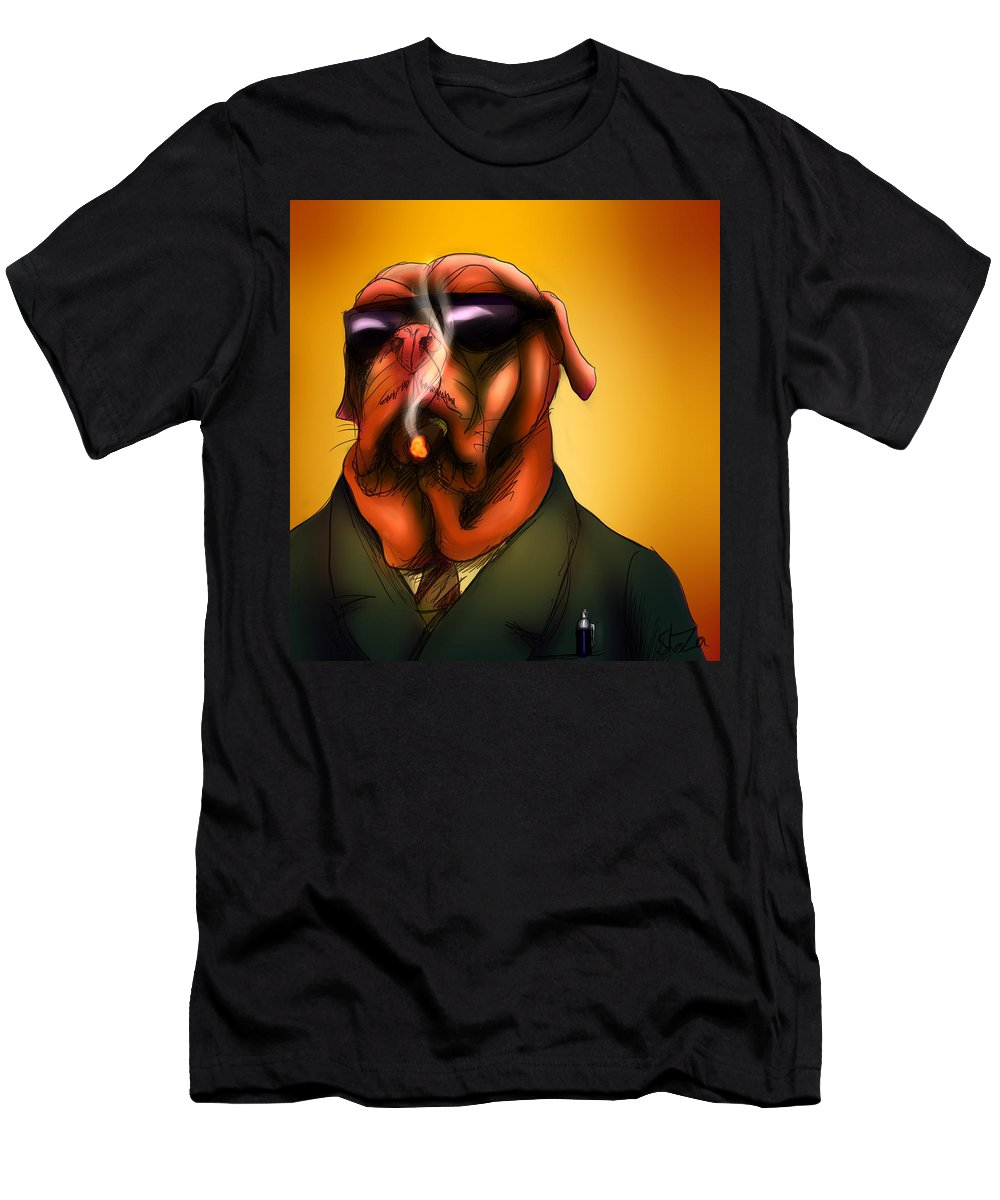 Kingpin Men's T-Shirt (Athletic Fit) featuring the digital art The Kingpin by Shaza D