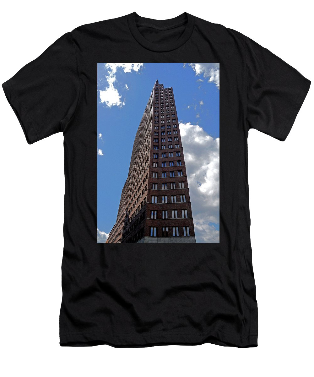 Europe Men's T-Shirt (Athletic Fit) featuring the photograph The Kollhoff-tower ... by Juergen Weiss