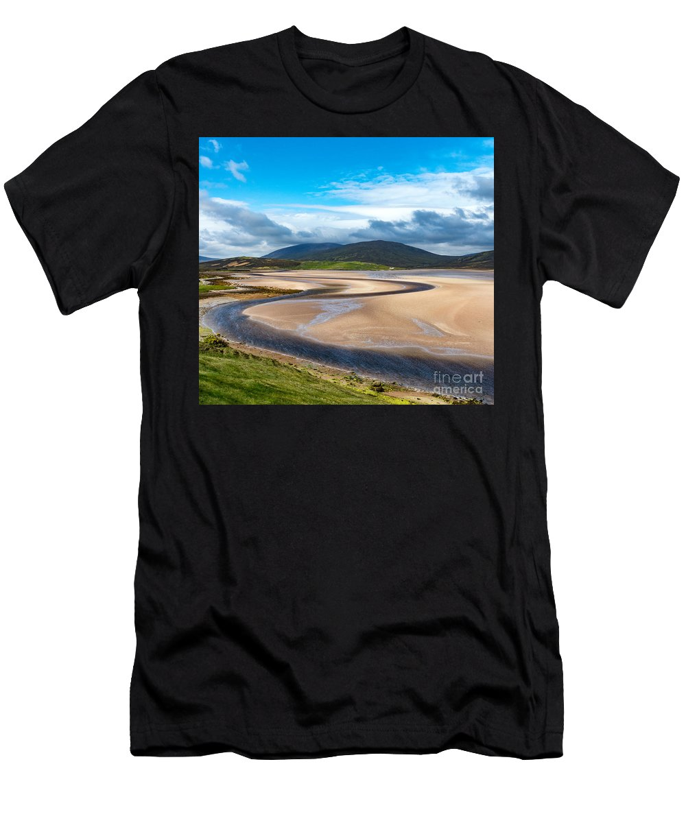 Landscape Men's T-Shirt (Athletic Fit) featuring the photograph The Kyle Of Durness by Richard Burdon