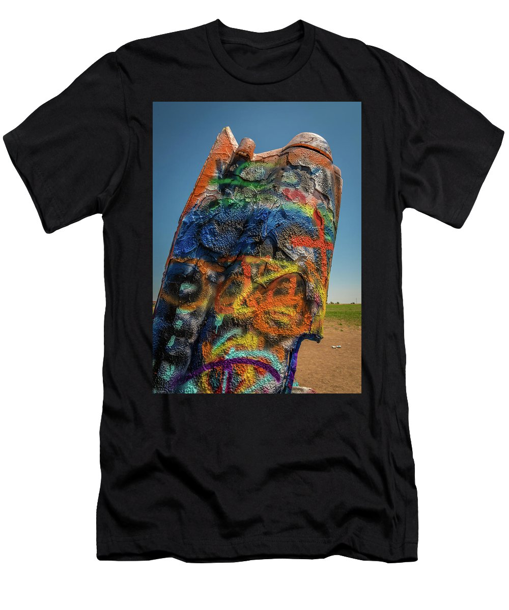 Cadillac Men's T-Shirt (Athletic Fit) featuring the photograph The Last Gasp by Vincent Asbjornsen