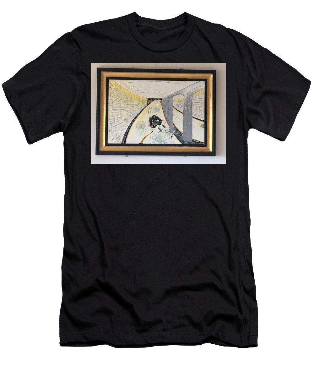 Historical Paintings Men's T-Shirt (Athletic Fit) featuring the painting The Last Night 0f Princess Diana by MERLIN Vernon