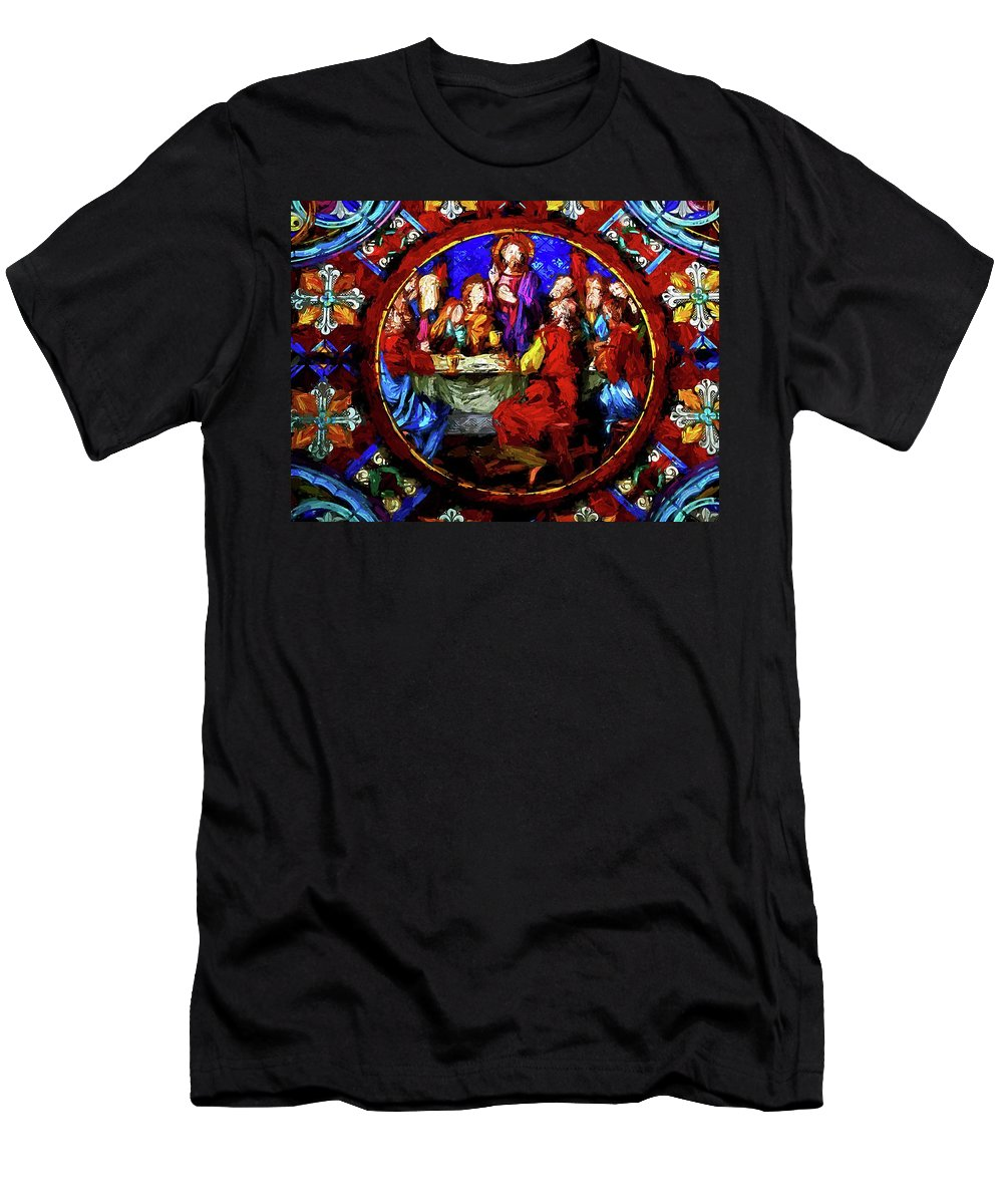 Abstract Men's T-Shirt (Athletic Fit) featuring the photograph The Last Supper by Robert Kinser