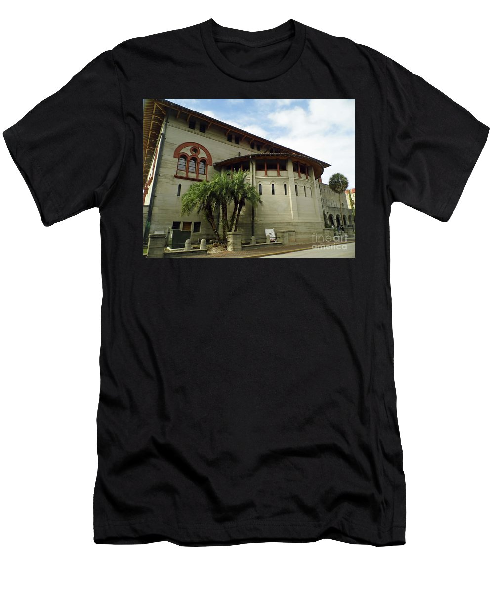 Lightner Men's T-Shirt (Athletic Fit) featuring the photograph The Lightner Museum by D Hackett