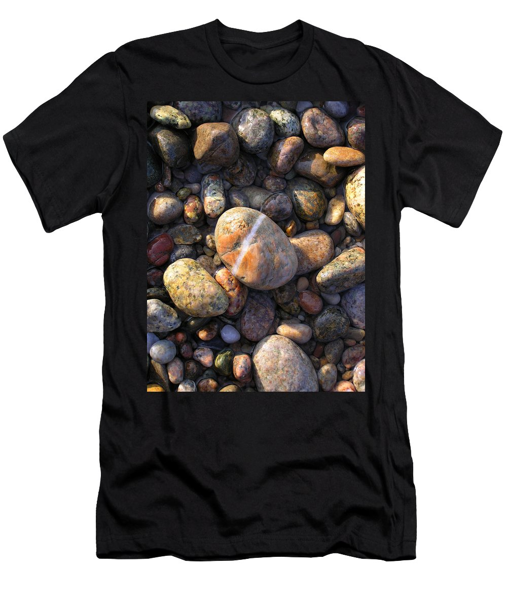 Rock Men's T-Shirt (Athletic Fit) featuring the photograph The Lucky Rock by Charles Harden