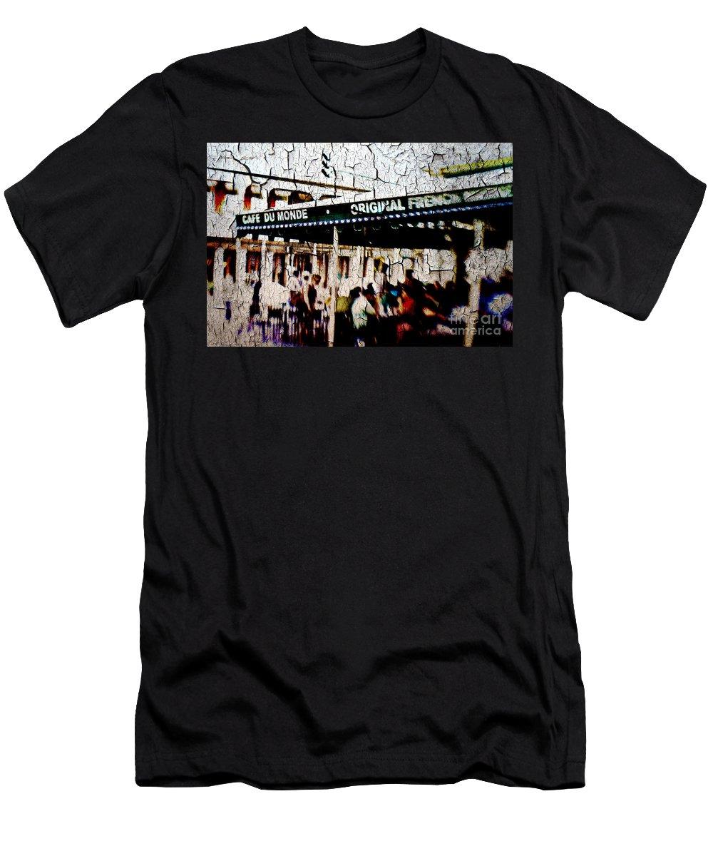 Cafe Du Monde Men's T-Shirt (Athletic Fit) featuring the photograph The Market by Scott Pellegrin