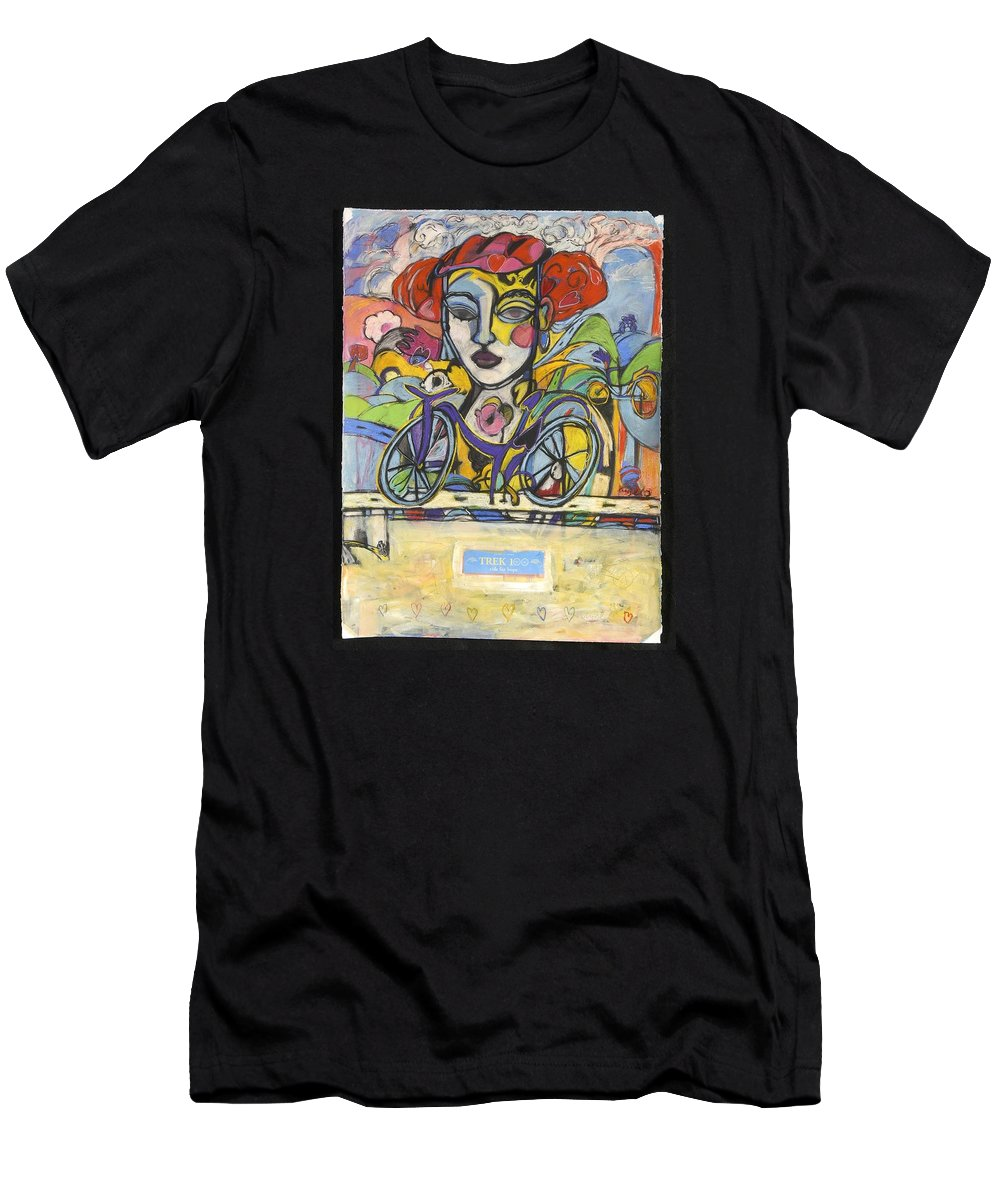 Bicycle Men's T-Shirt (Athletic Fit) featuring the drawing the Messenger by Mykul Anjelo